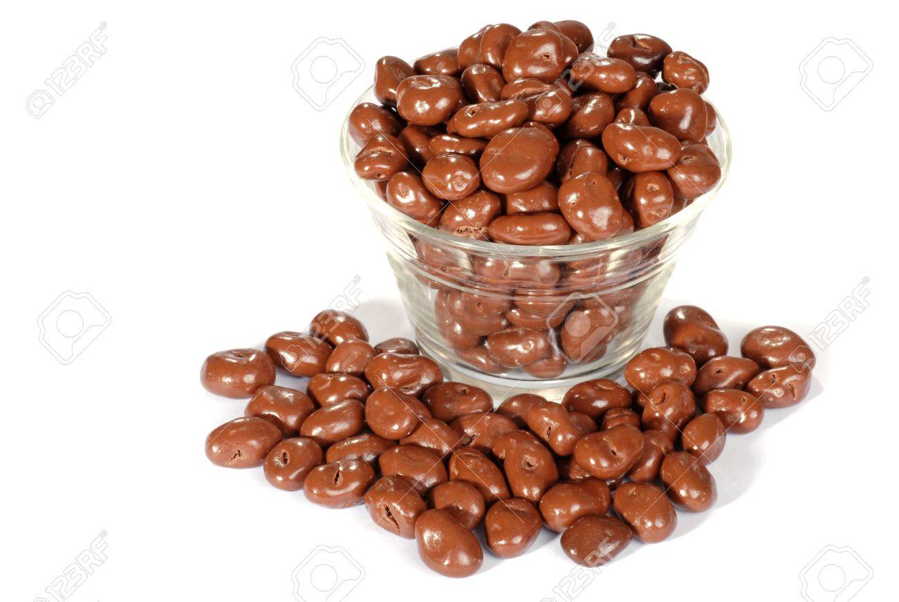 Bowl Of Chocolate Covered Raisins Stock Photo, Picture And Royalty ...