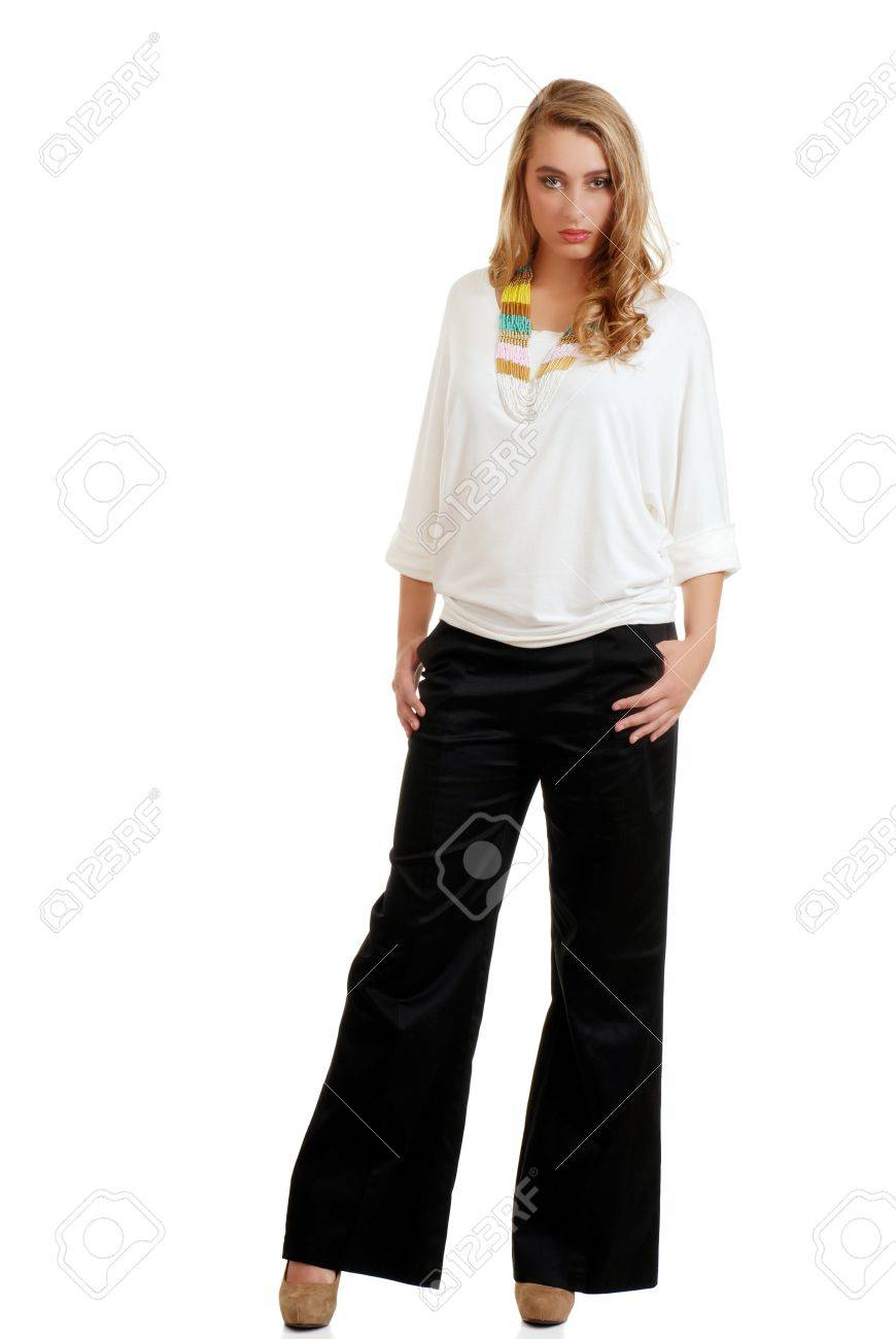 Black Pants And White Top