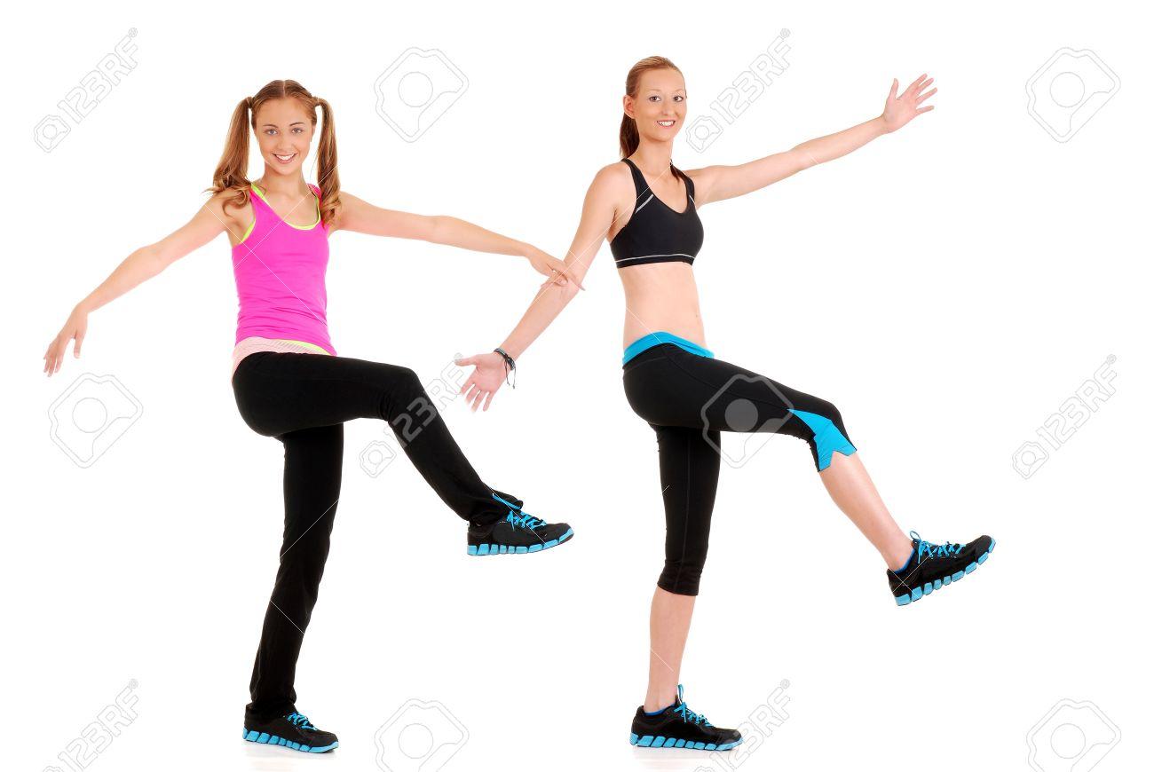 Zumba fitness dance move Stock Photo - 14615620