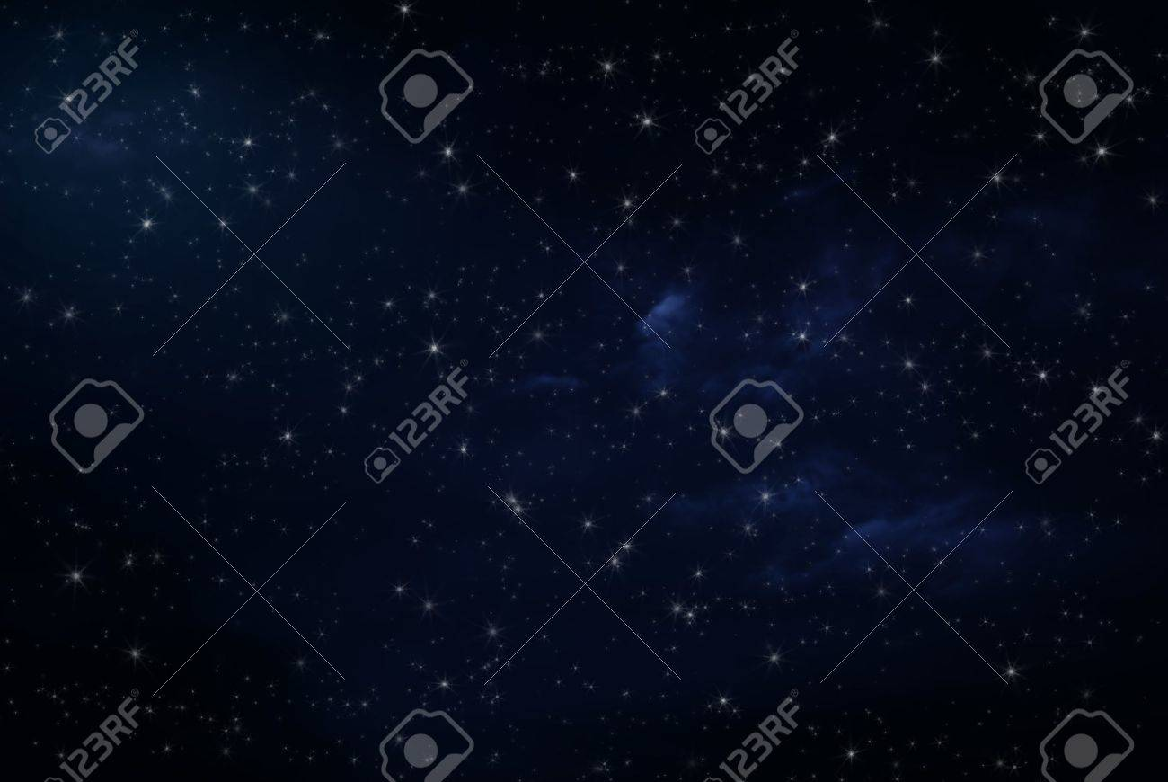 Night sky with stars - 16464185