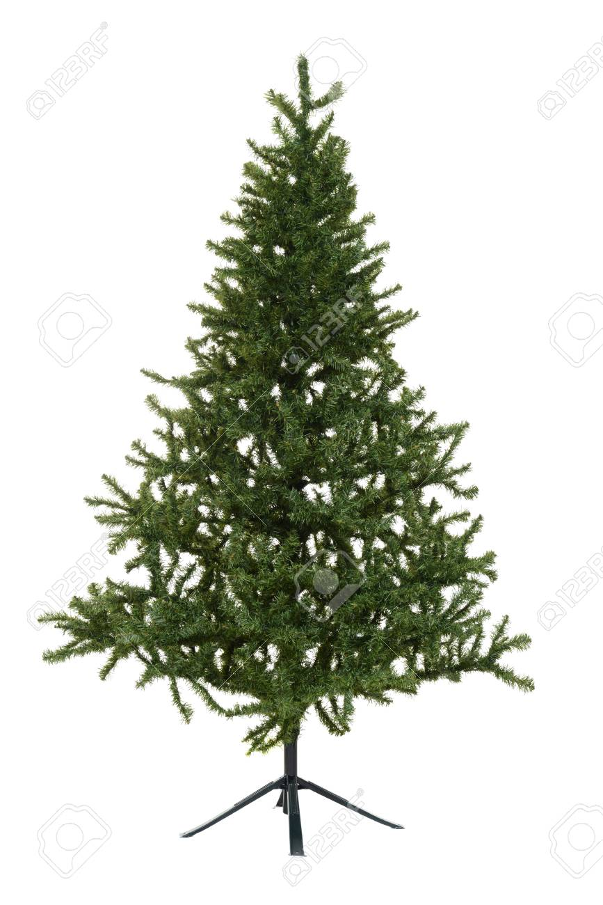 Fake Christmas Tree.Isolated Fake Christmas Tree