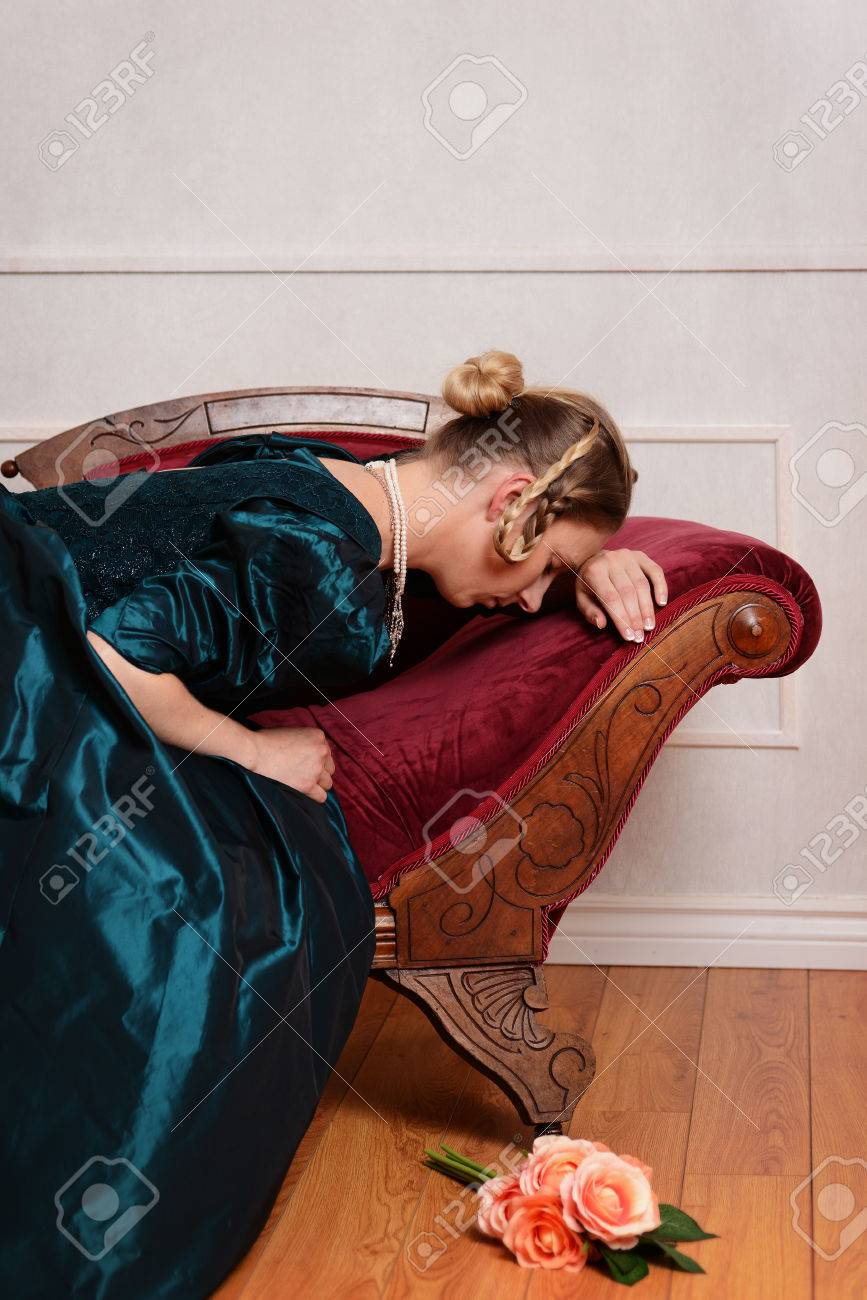 Astounding Sad Victorian Woman On Fainting Couch Unemploymentrelief Wooden Chair Designs For Living Room Unemploymentrelieforg