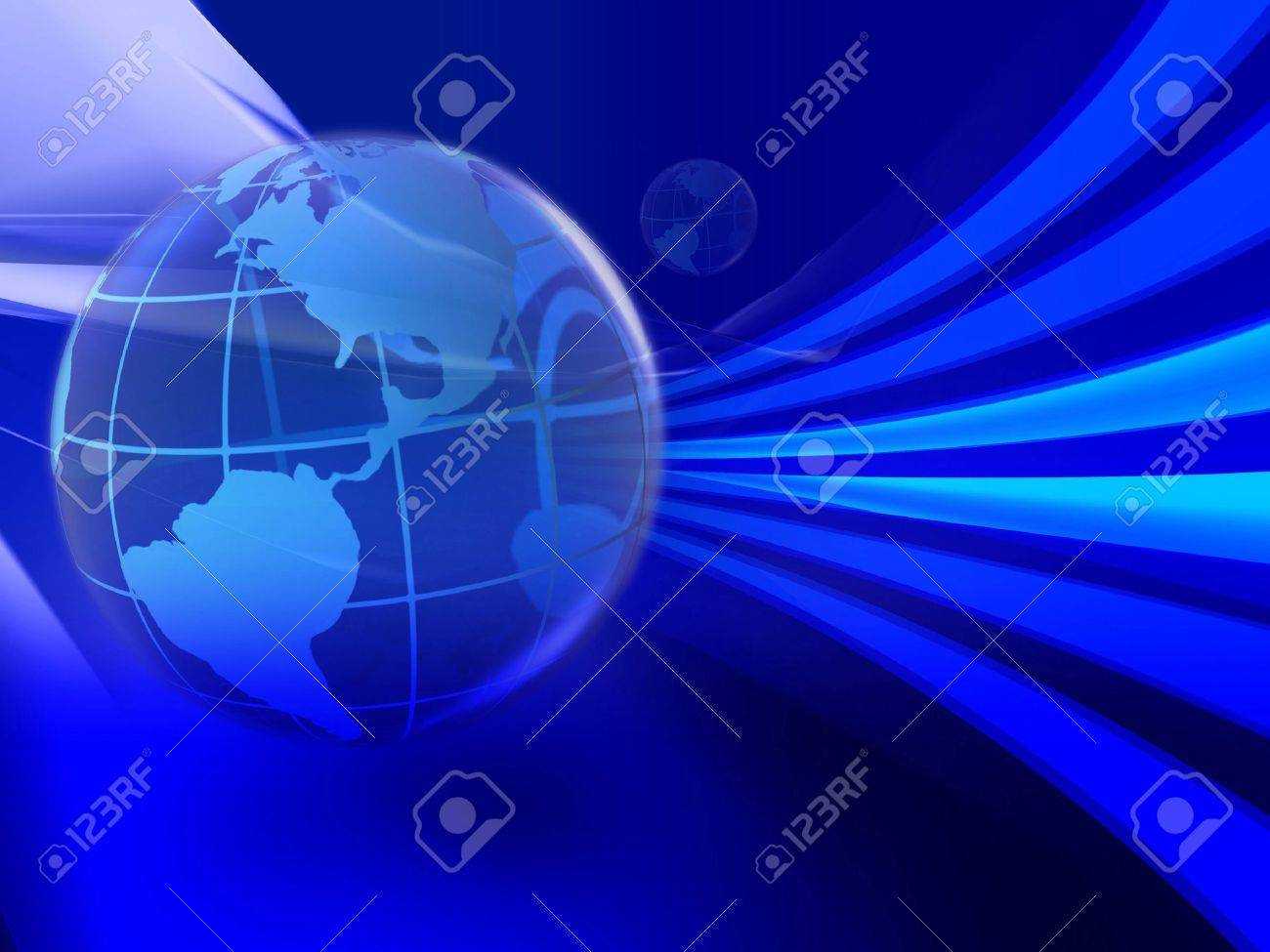 Illustration of global use of information technology. Speed of data transfer. Stock Photo - 223057
