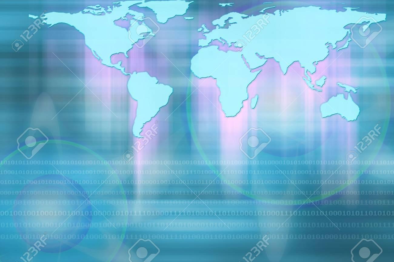 illustration of World map. Stock Photo - 226510