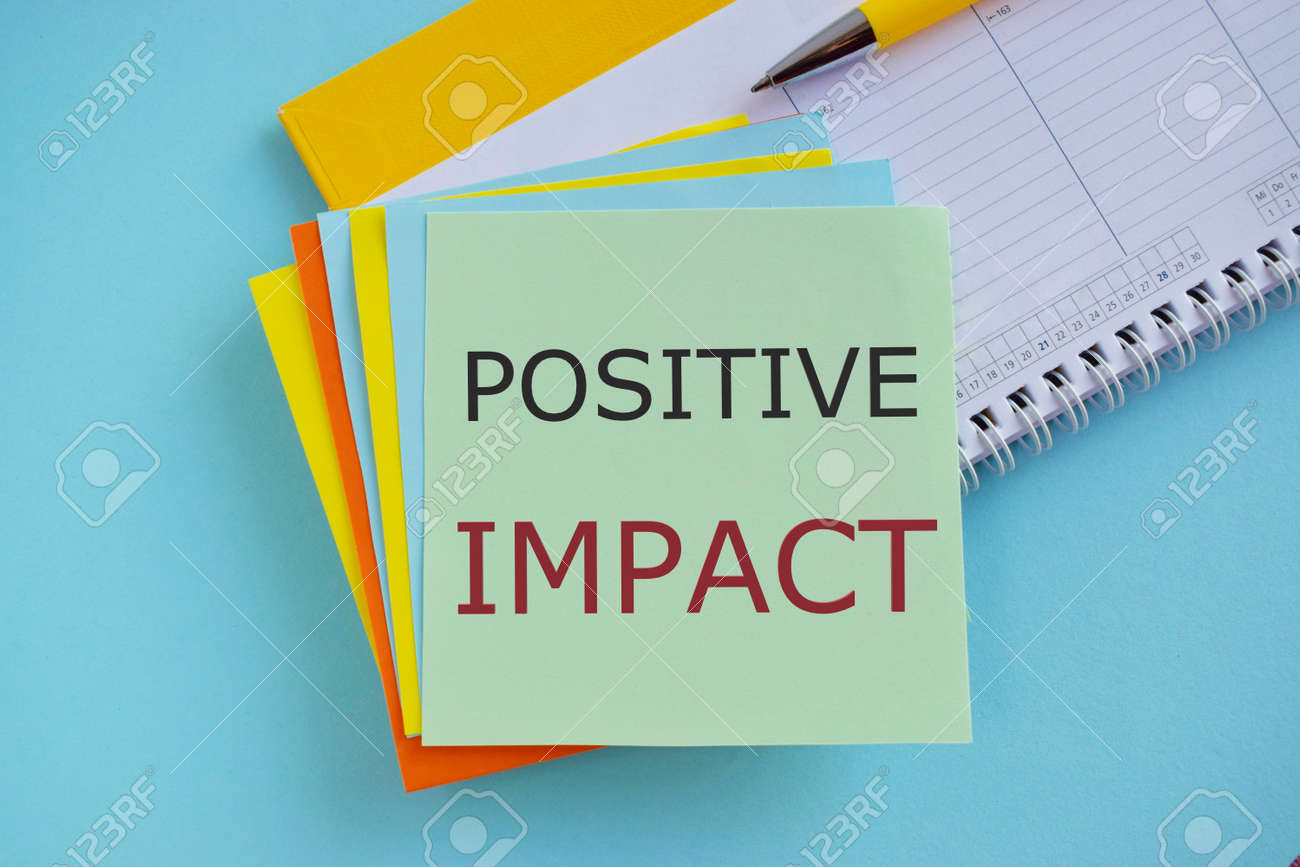 Concept of Positive Impact text written on sticker note - 166368337