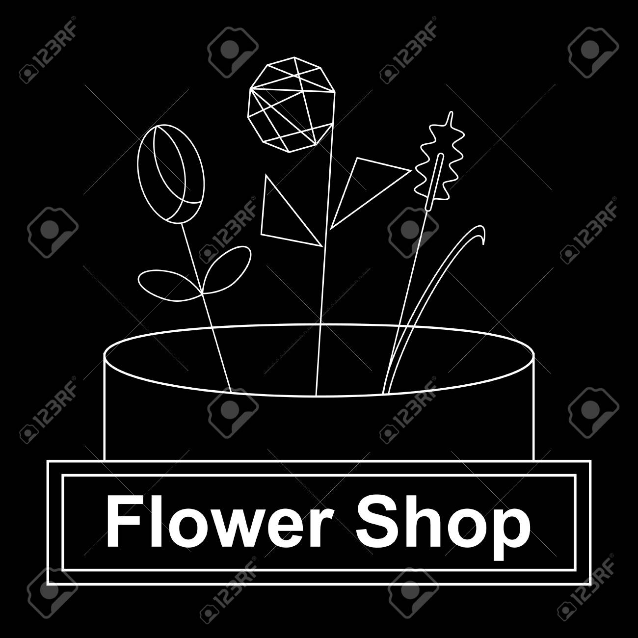 Flower Store Front Icon. Outline Flower Store Front Vector Icon.. Royalty  Free Cliparts, Vectors, And Stock Illustration. Image 99615091.