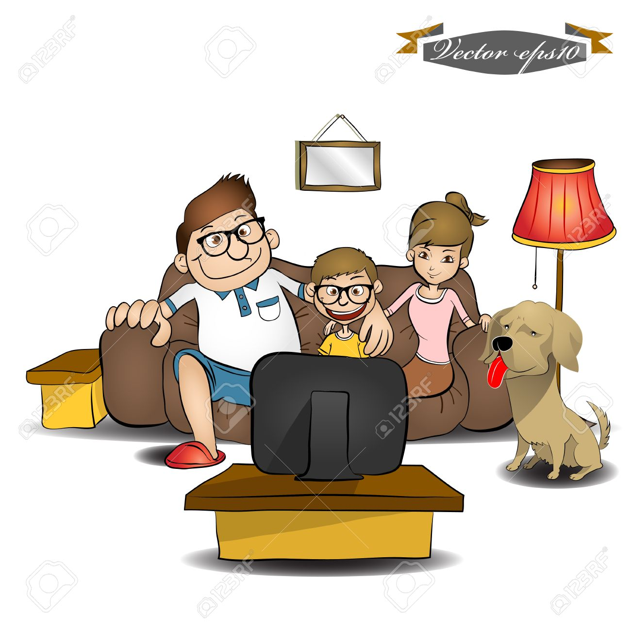 boy watching tv clipart. family watching tv stock vector - 35201729 boy tv clipart