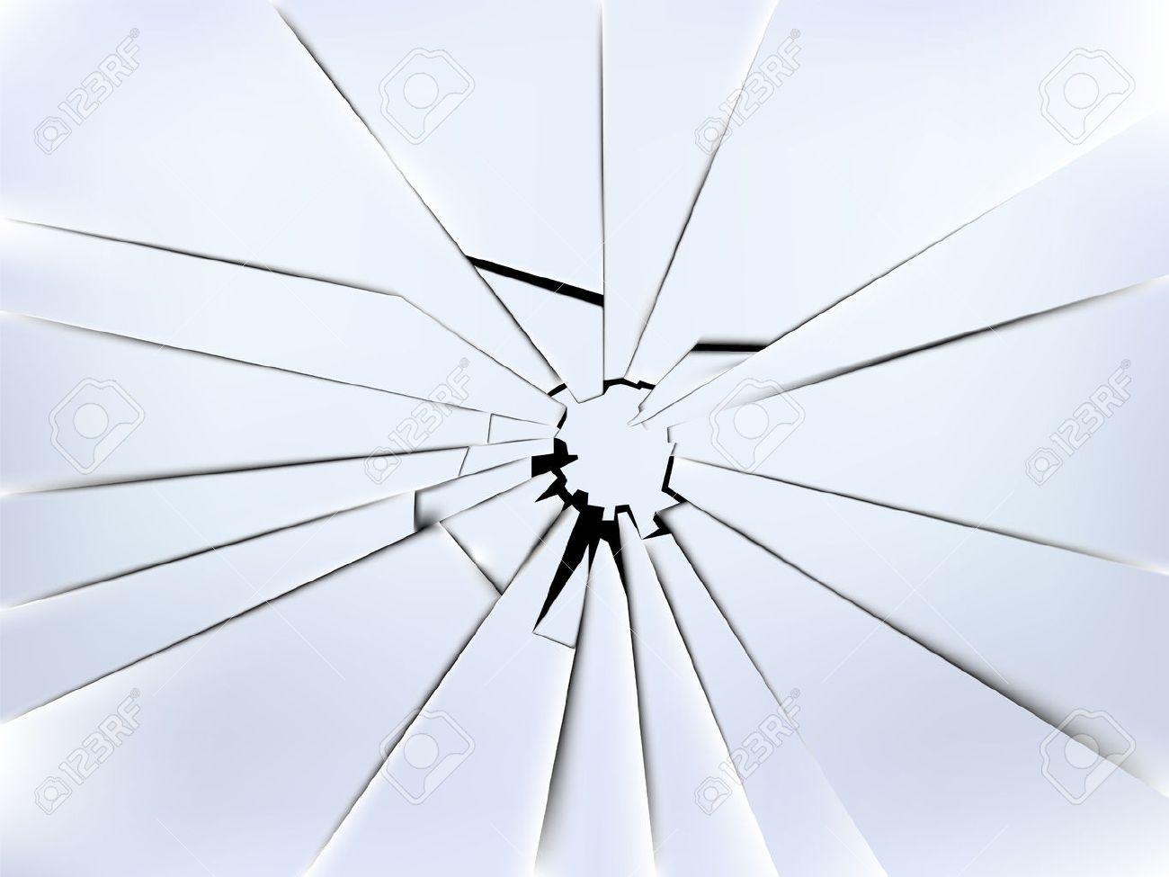 realistic broken window\'s glass vector - 38829210
