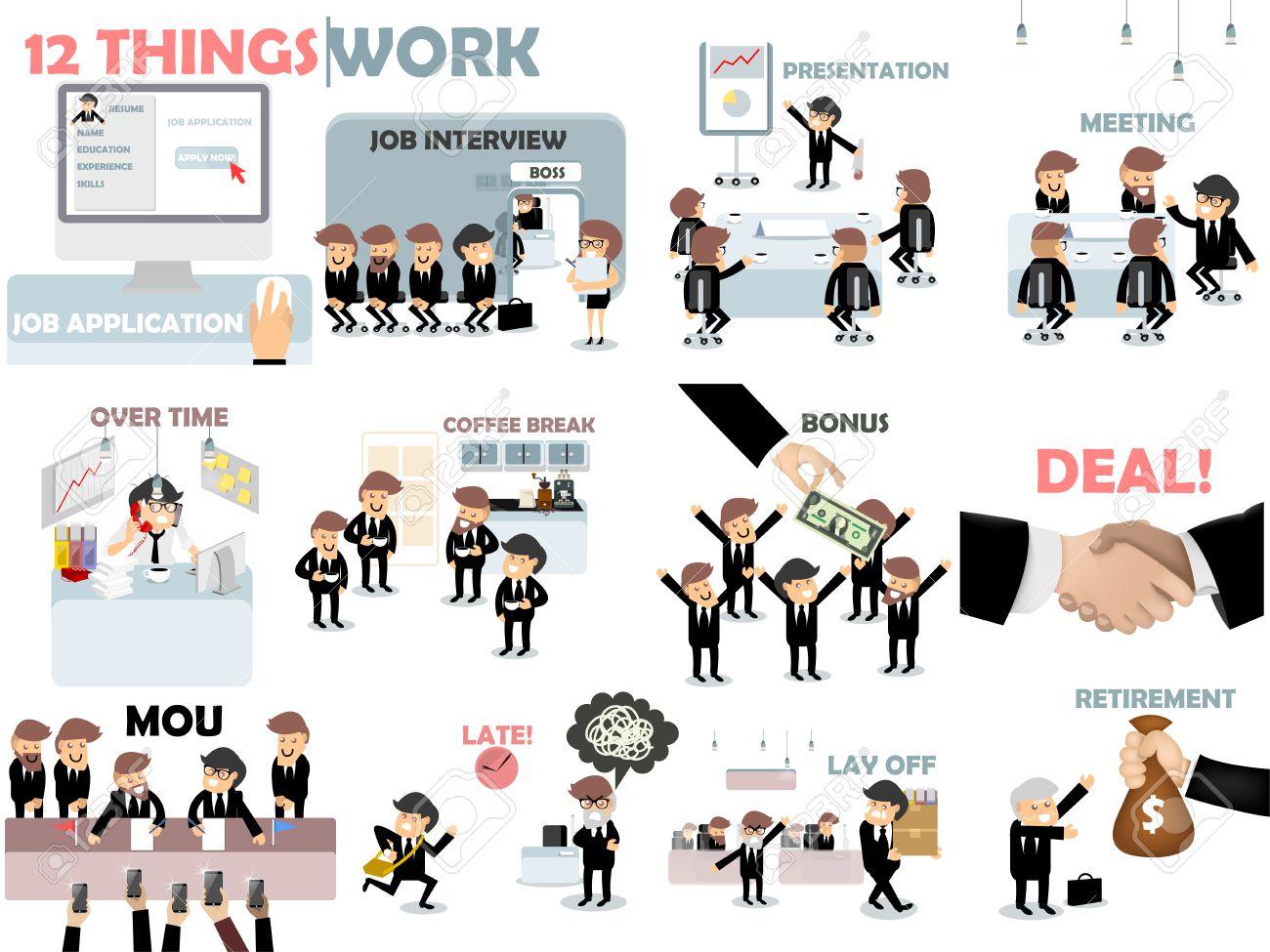 schne grafische gestaltung der arbeit 12 dinge des arbeitssituation aus bewerbung vorstellungsgesprch prsentation - Bewerbung Vorstellungsgesprch