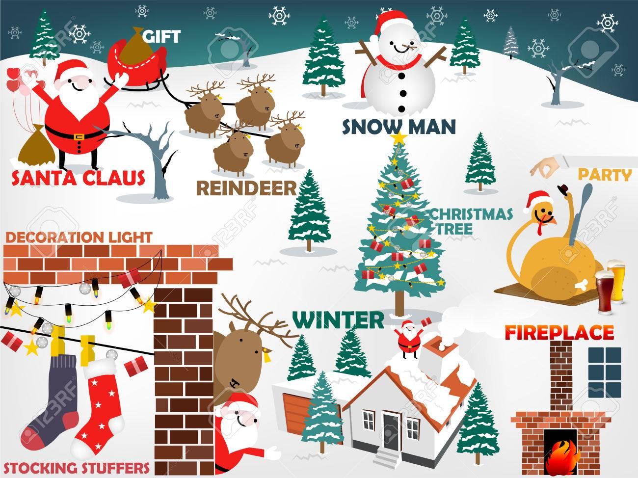 Top Ten Weihnachtsessen.Stock Photo