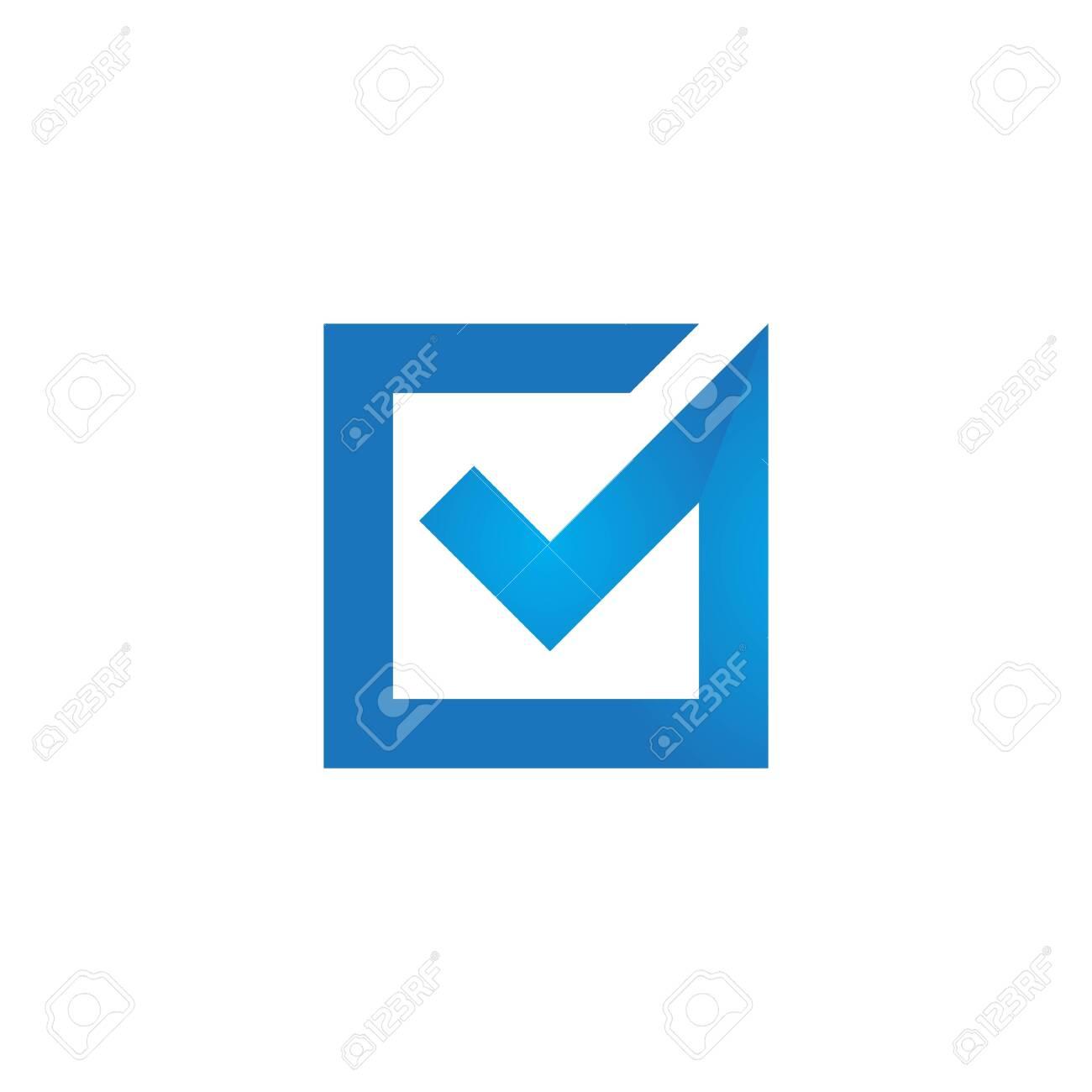 Check mark V Letter Logo Template - 154373115