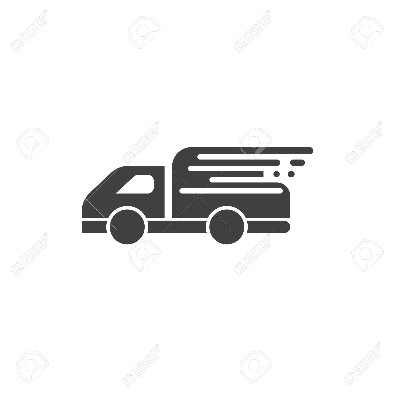 fast deliveri logo icon template illustration - 155195453