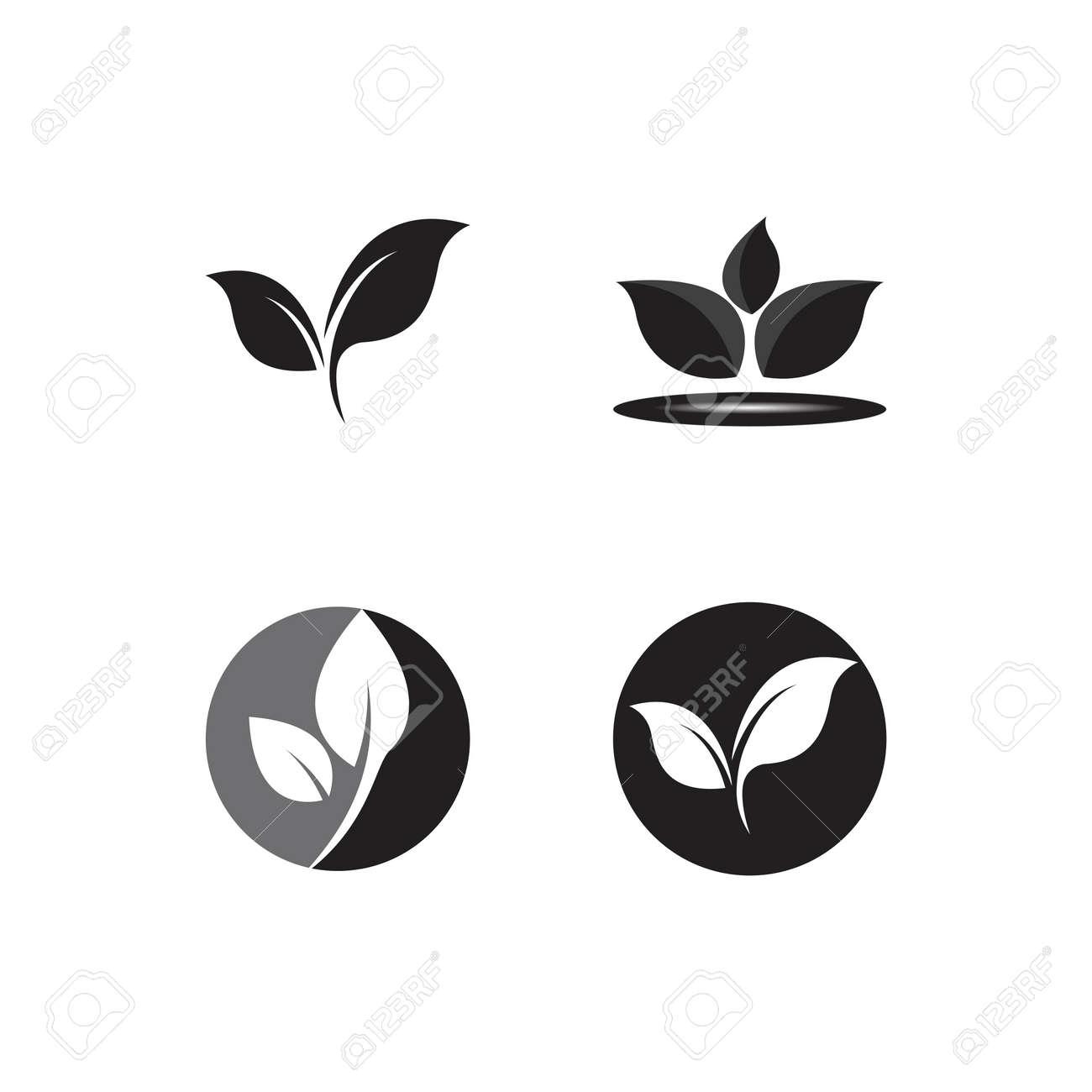 leaf logo ecology nature element vector icon - 155607375