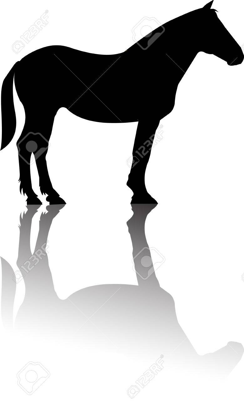 Western Horse Silhouettes Horse Standing Silhouette