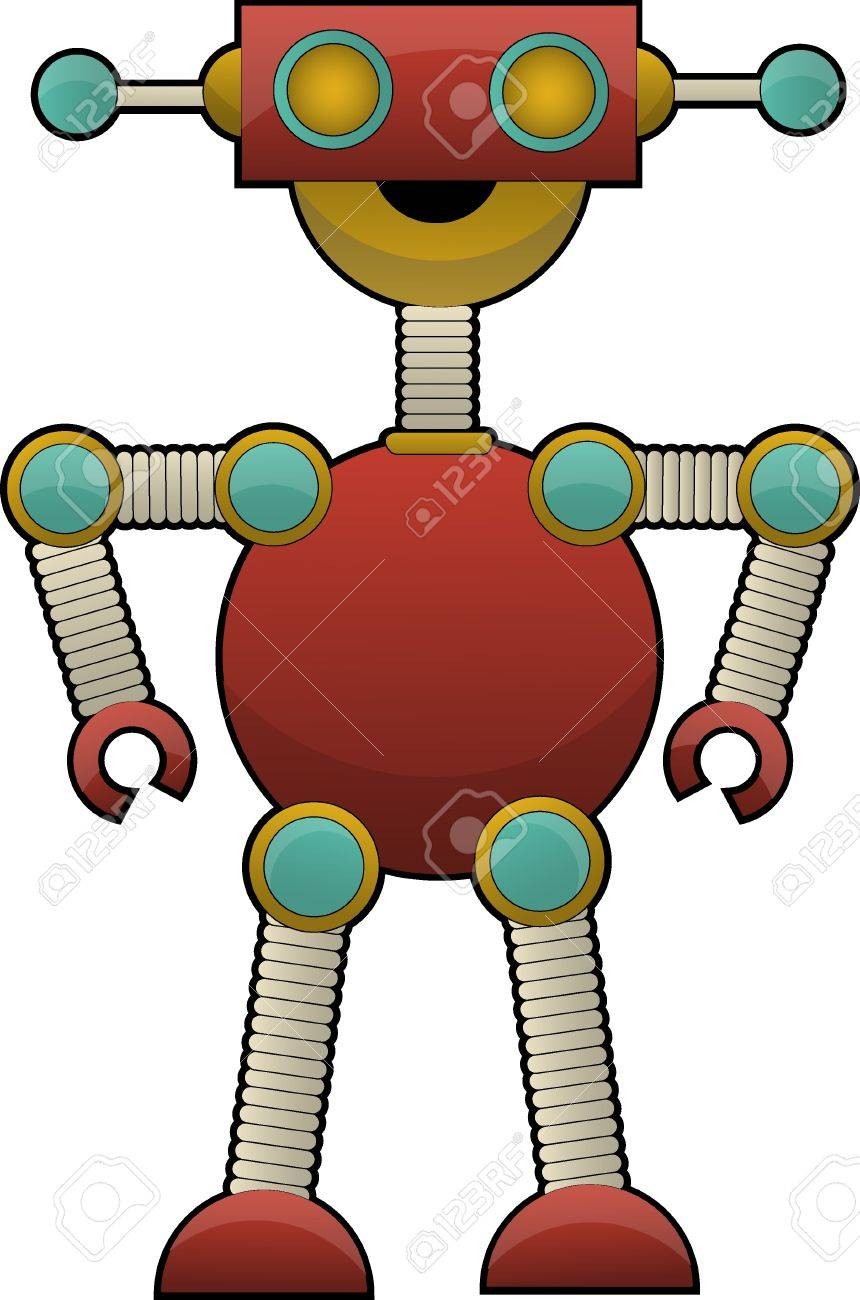 colorful strange cute robot Vector illustration Stock Vector - 9931158