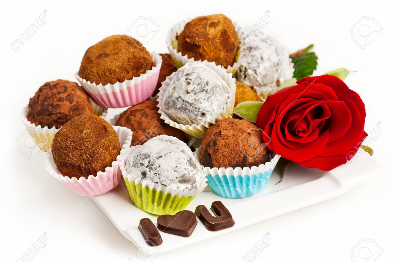 Valentine truffles Stock Photo - 11873288