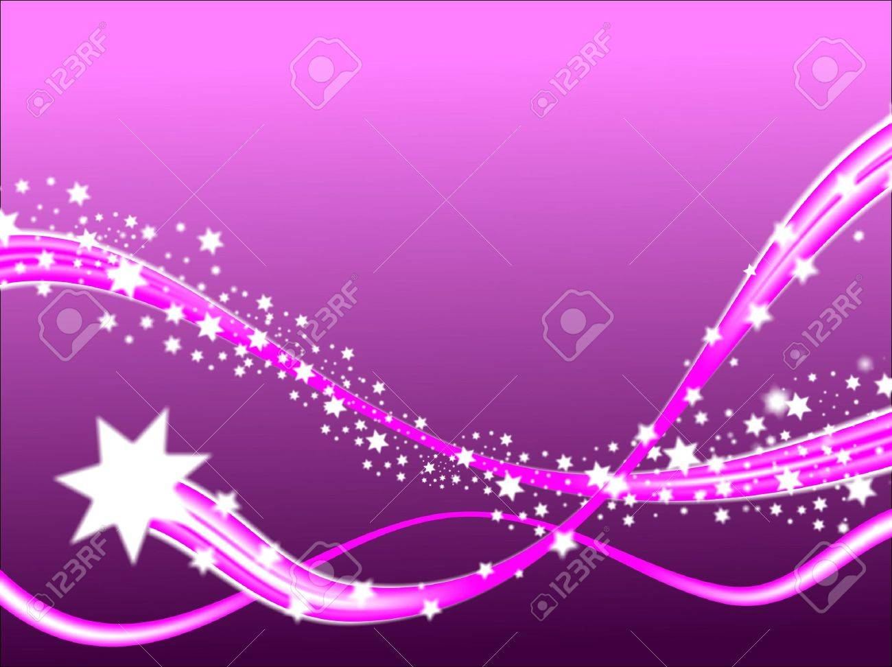 A shooting stars christmas scene on a purple background with room fro text Stock Photo - 5859935