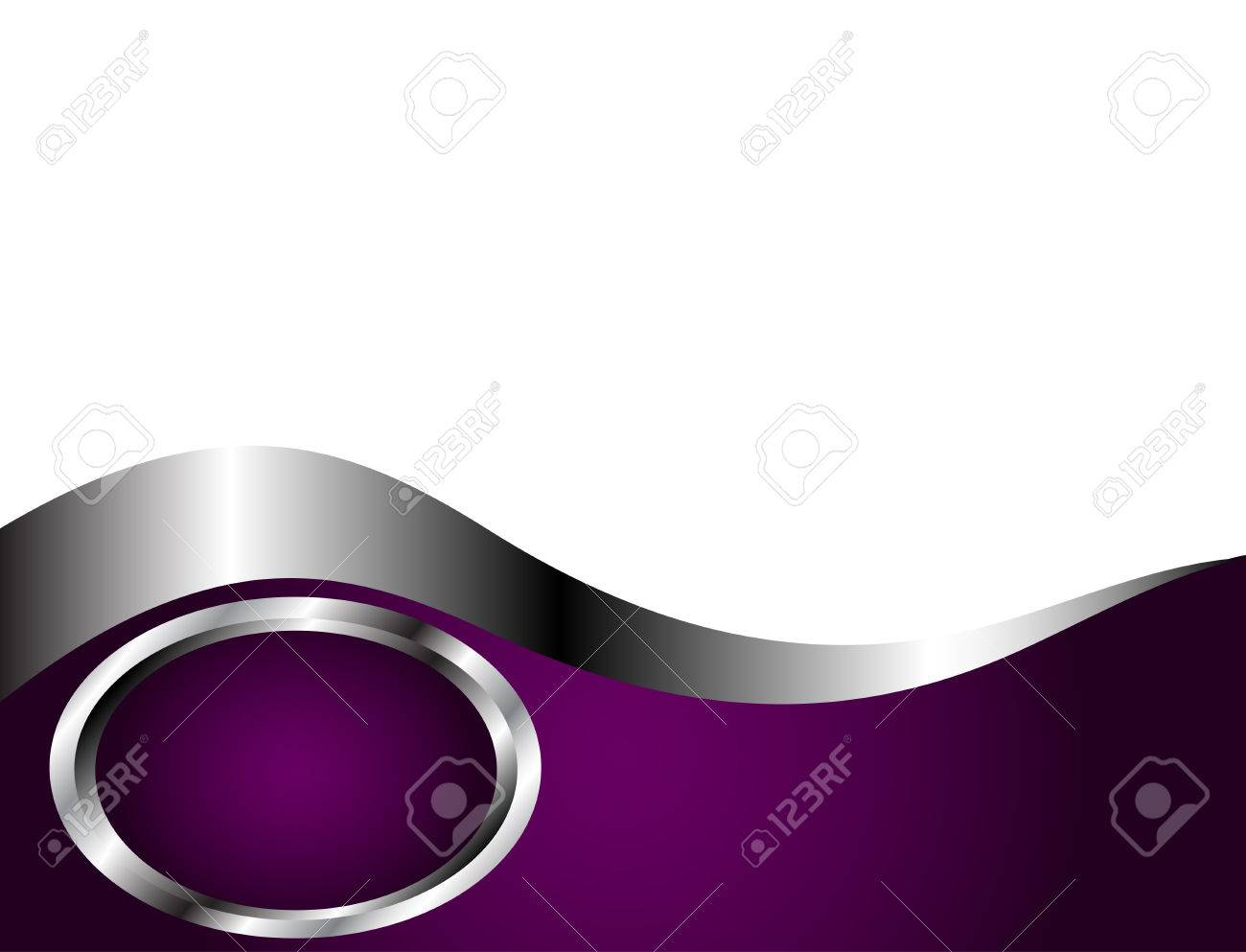 A Deep Purple And Silver White Business Card Or Background Template Stock Vector