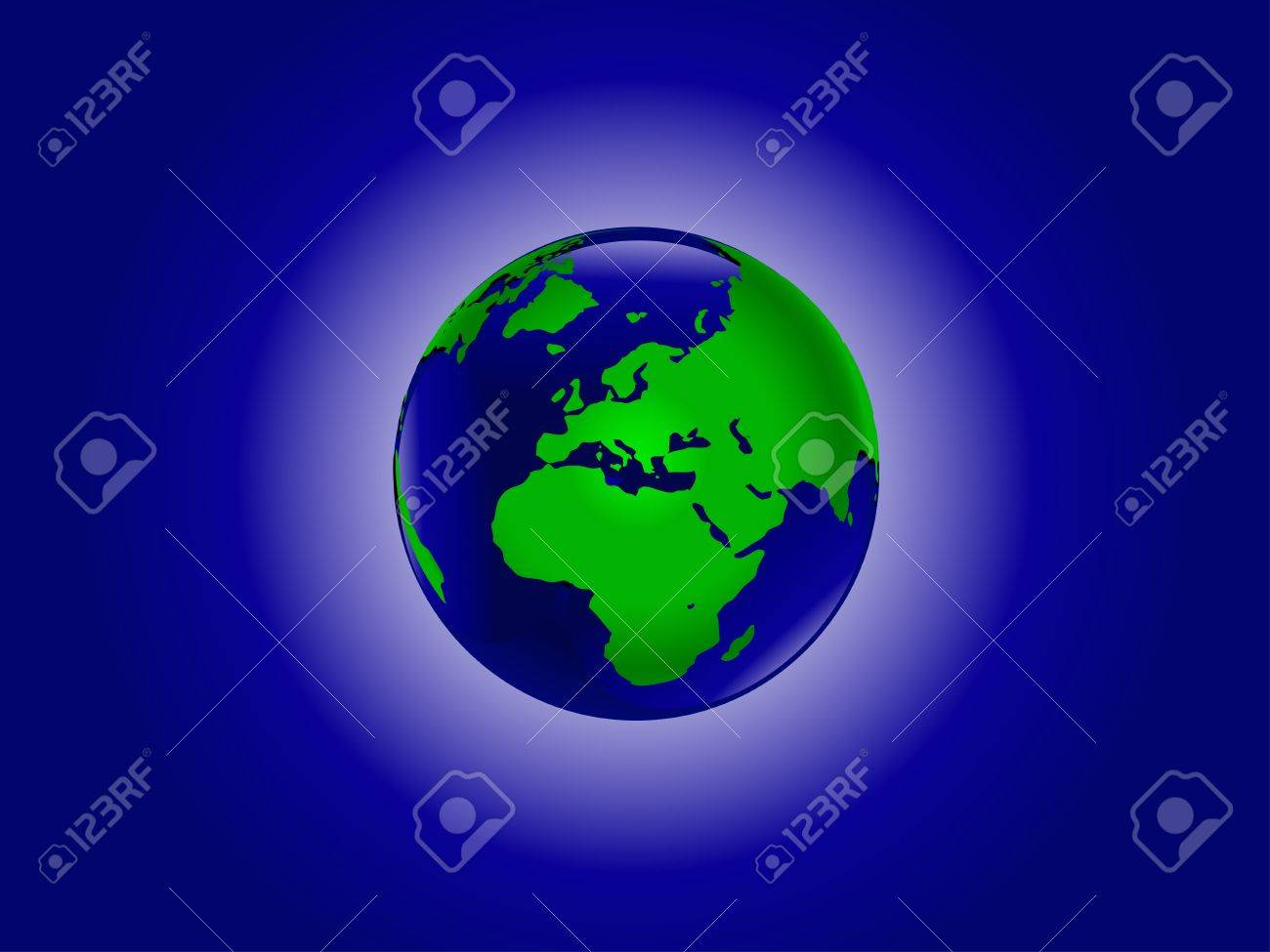 A vector illustration of the world in blue and green Stock Vector - 8443810