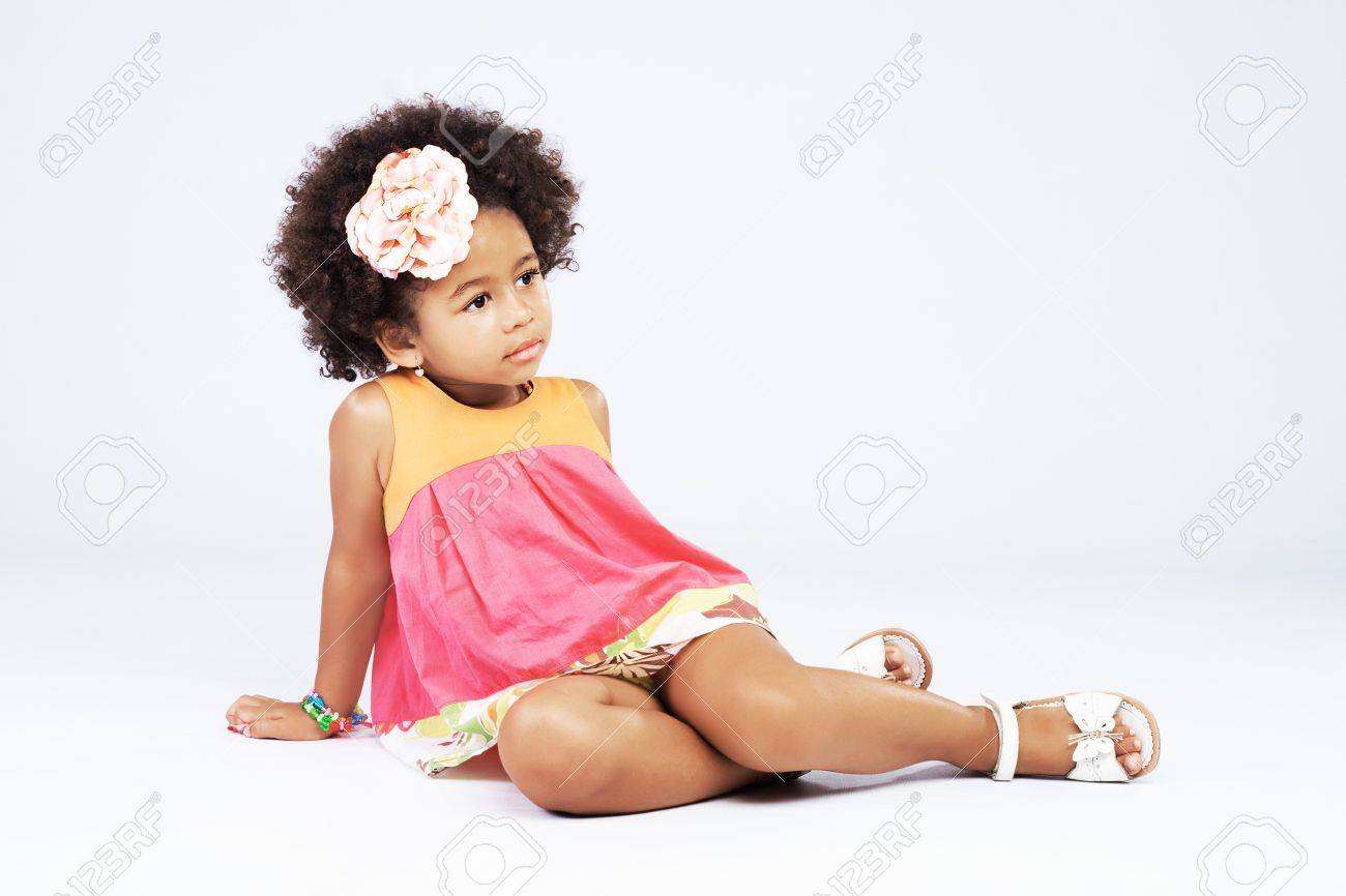 Portrait of beautiful happy little girl Stock Photo - 18521469