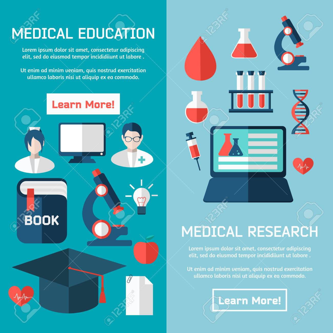 Good Flat Design Concepts Of Medical Poster Stock Vector   46713968
