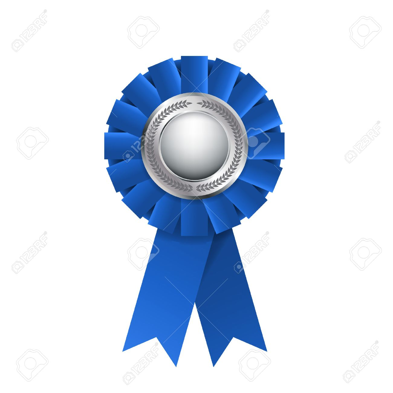 blue award rosette isolated on a white background award ribbon rh 123rf com blue ribbon vector png blue ribbon vector free download
