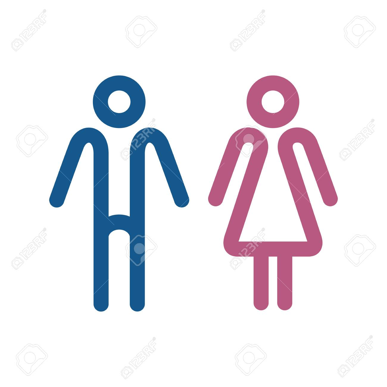 Wc Icons Isolated On A White Background Washroom Icon Restroom