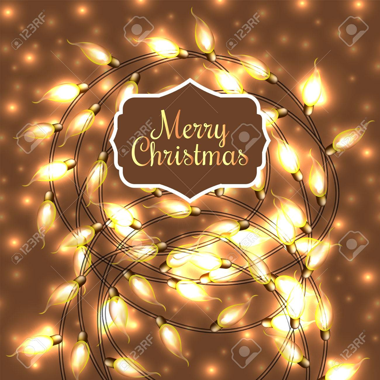 colorful glowing christmas lightsvector elements can be used as backdrop for new year decoration