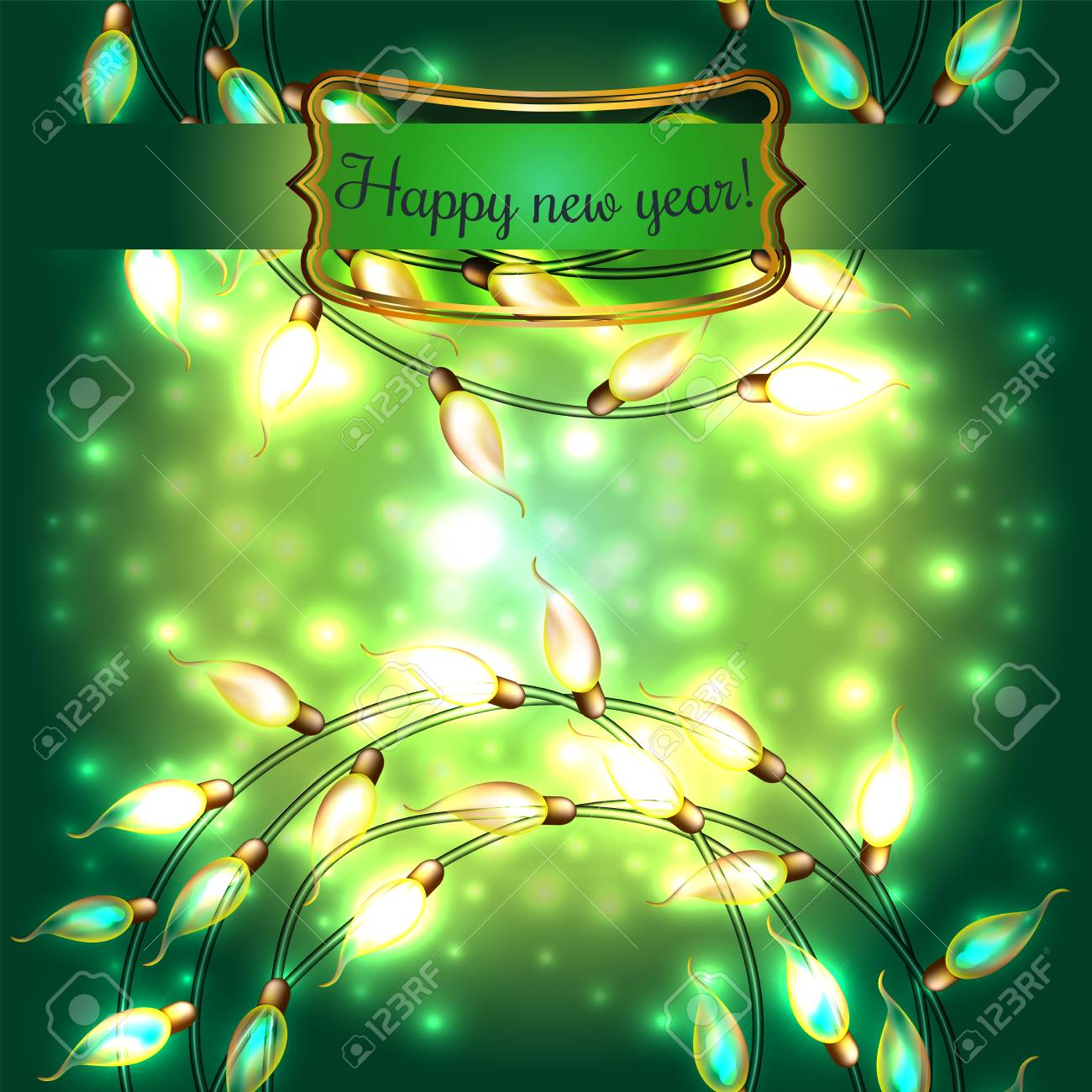 Colorful Glowing Christmas Lights.Vector Elements Can Be Used ...