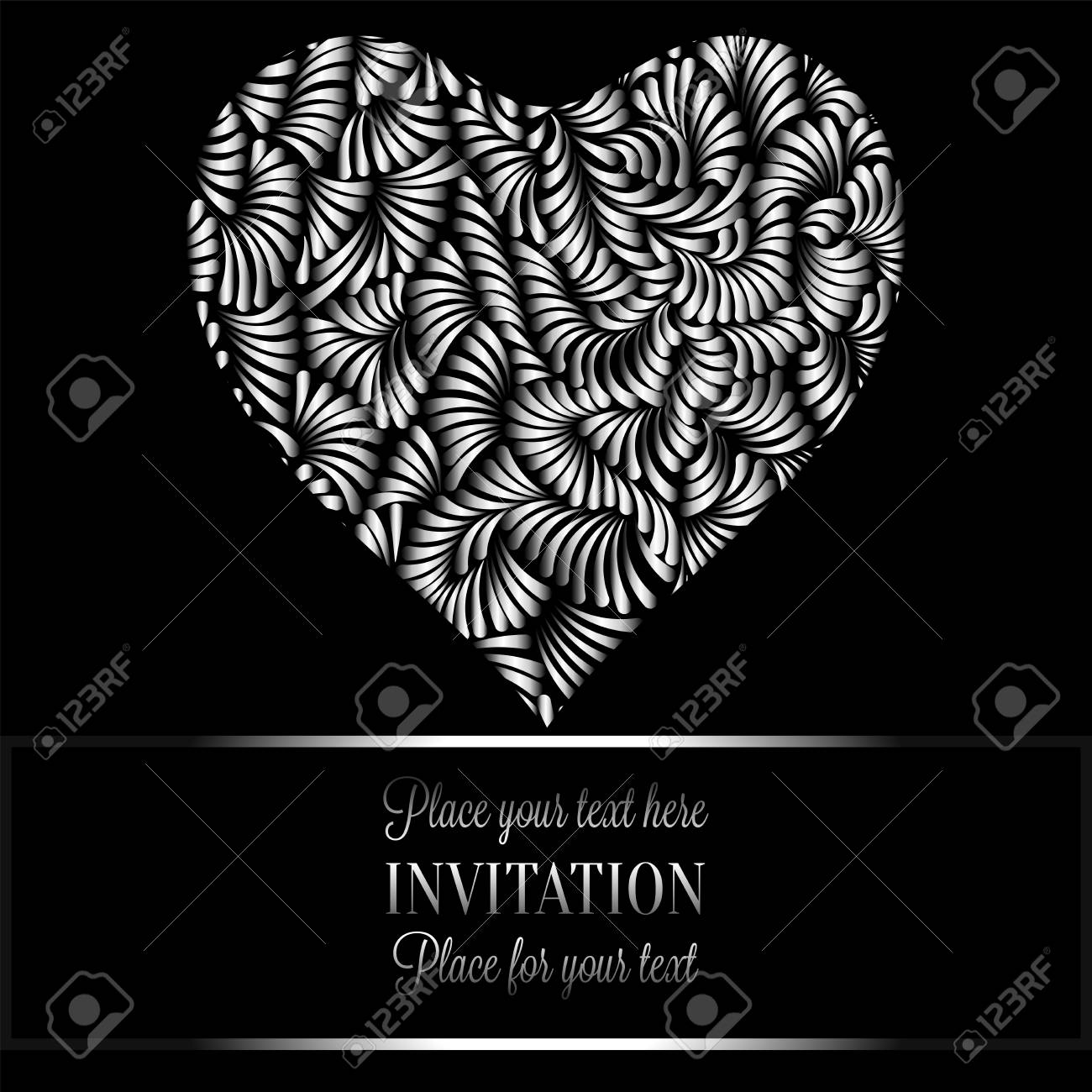 Must see Wallpaper Black And White Romantic - 68384314-romantic-background-with-antique-luxury-black-and-silver-vintage-frame-victorian-banner-heart-made-o  Snapshot_122058.jpg
