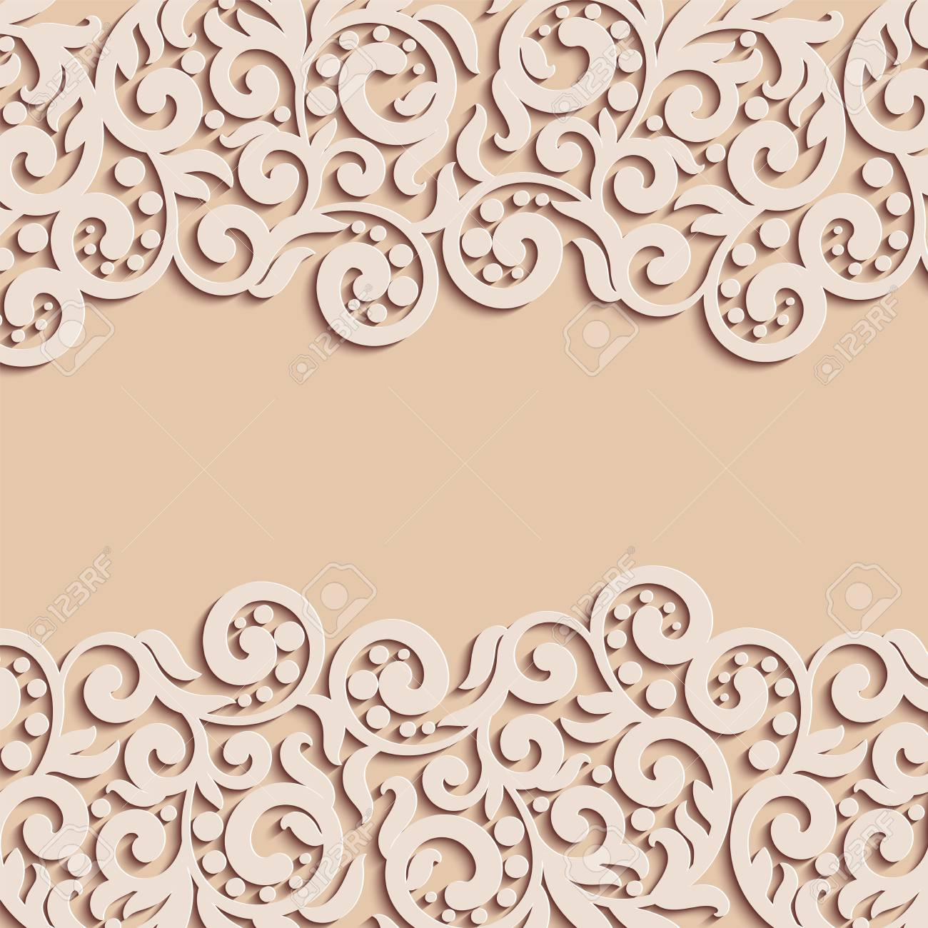 Vector Floral Swirls Decoration Abstract 3d Background For