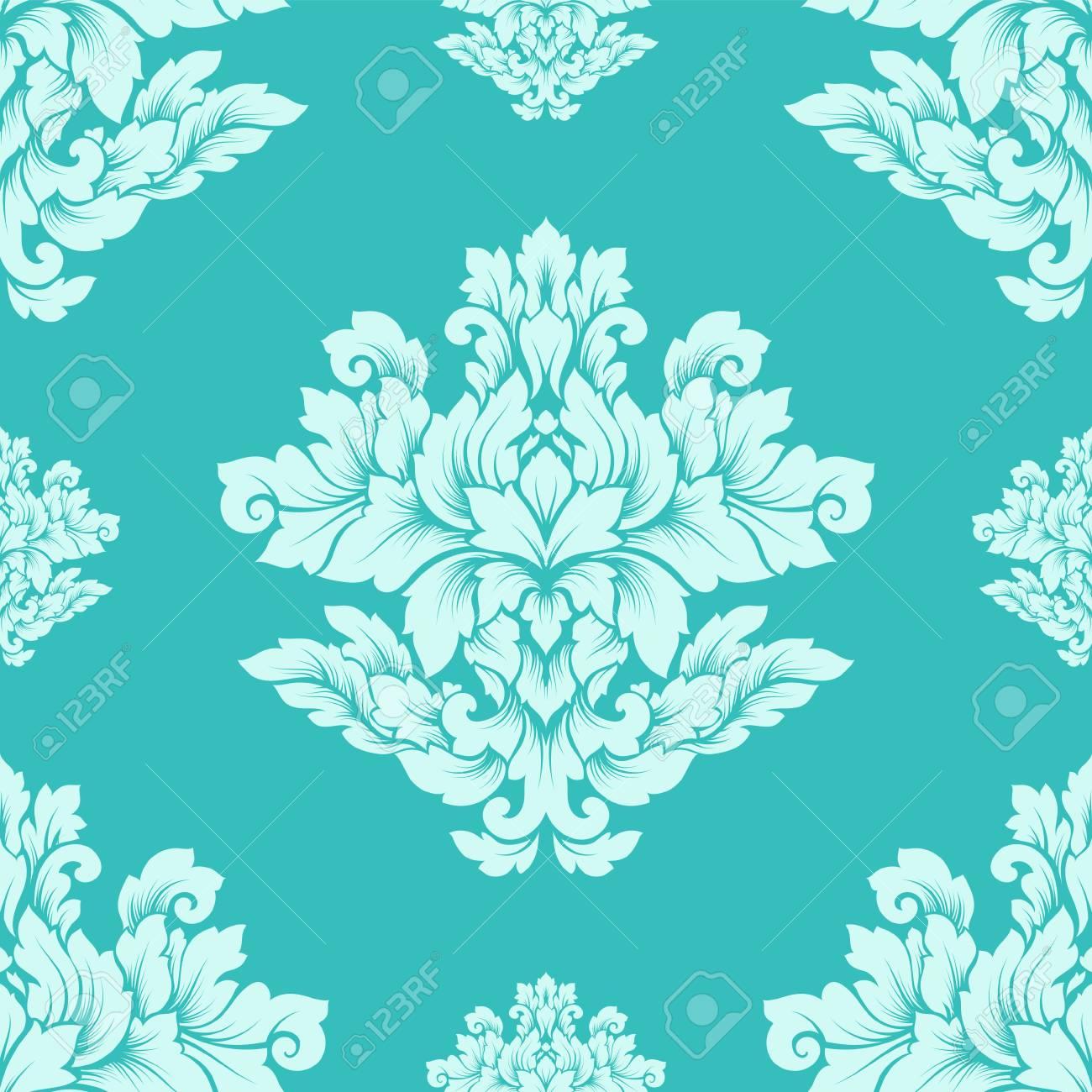Damask Seamless Pattern Intricate Design Luxury Royal Ornament