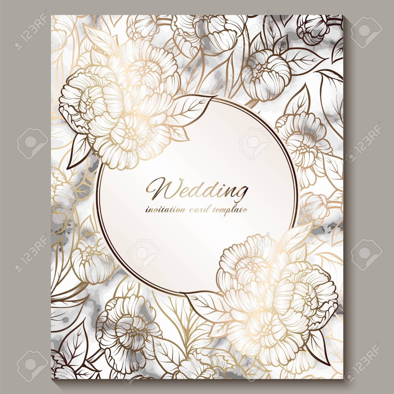 Wedding Invition Cards.Luxury And Elegant Wedding Invitation Cards With Marble Texture
