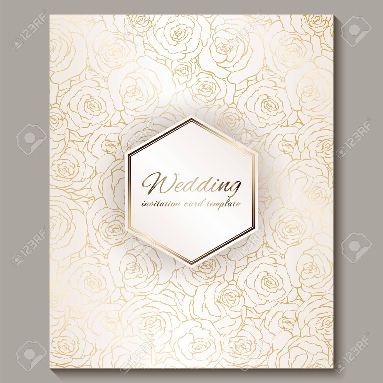 luxury gold vintage wedding invitation floral background with royalty free cliparts vectors and stock illustration image 121482083 123rf com