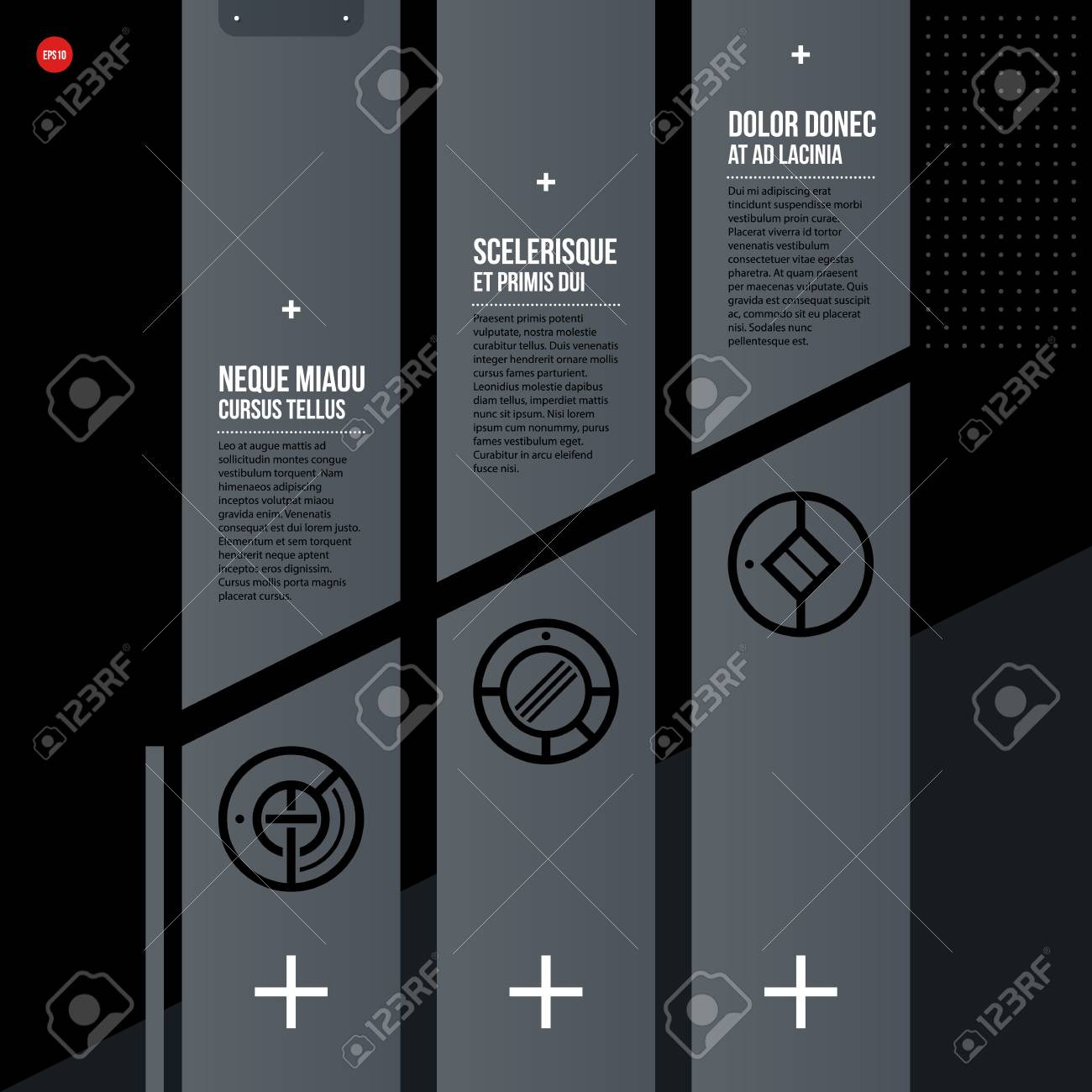 Futuristic Corporate Web Design Template Useful For Presentations