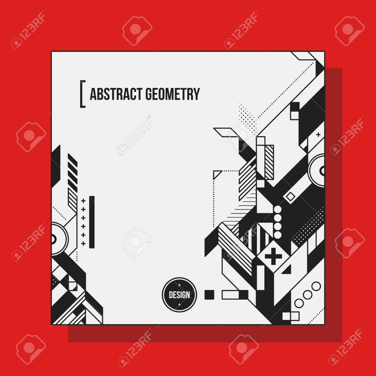 Square background design template with abstract geometric elements square background design template with abstract geometric elements useful for cd covers advertising and maxwellsz