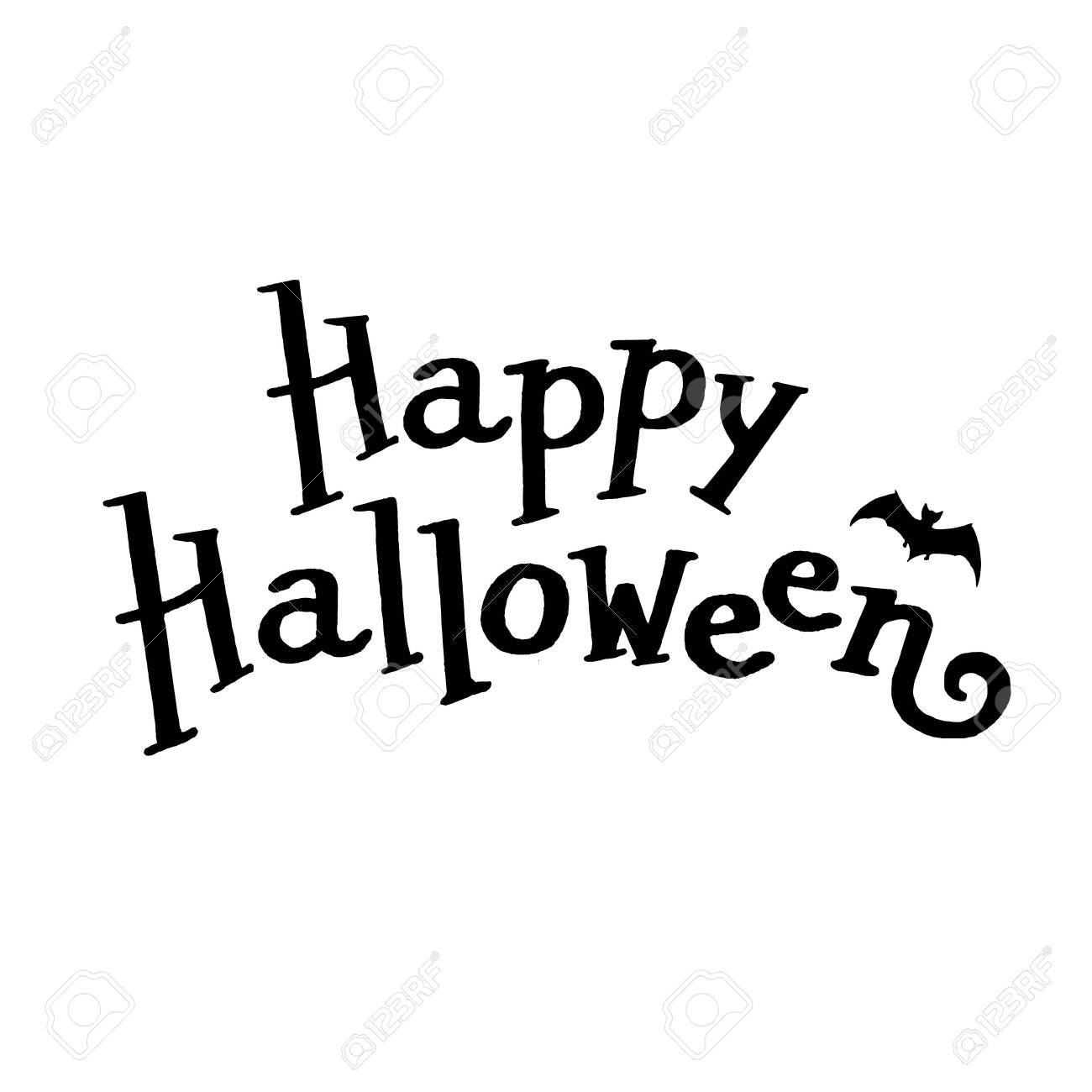 Happy Halloween Lettering Royalty Free Cliparts Vectors And Stock Illustration Image 128634833