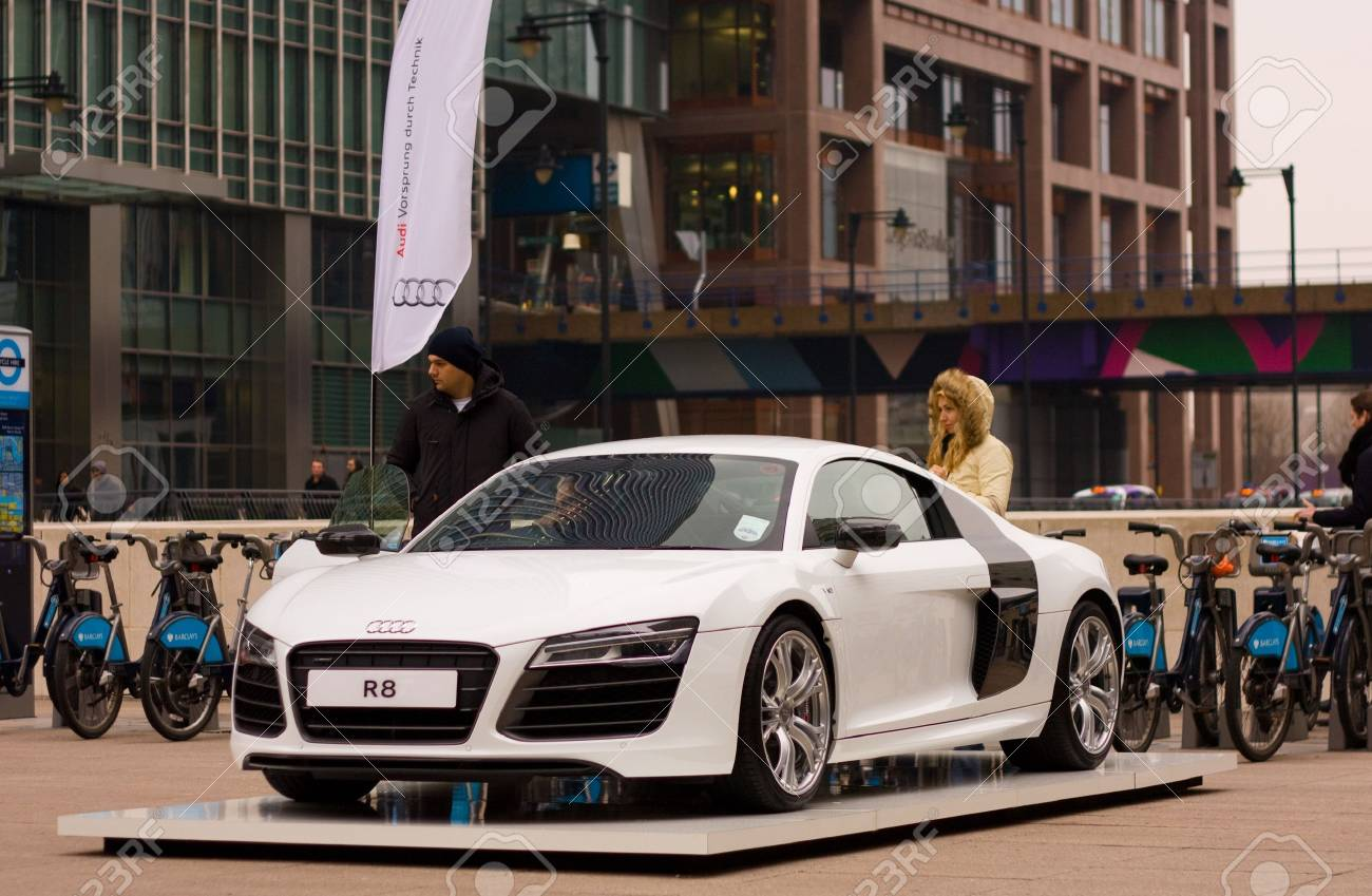 LONDON   FEBRUARY 12TH: Audi Showcases Their R8 Collection On The 12th Of  February 2013