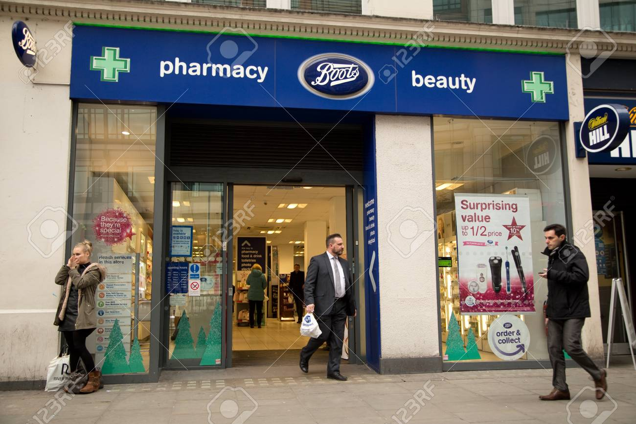 LONDON , NOVEMBER 25TH The exterior of Boots on November the..
