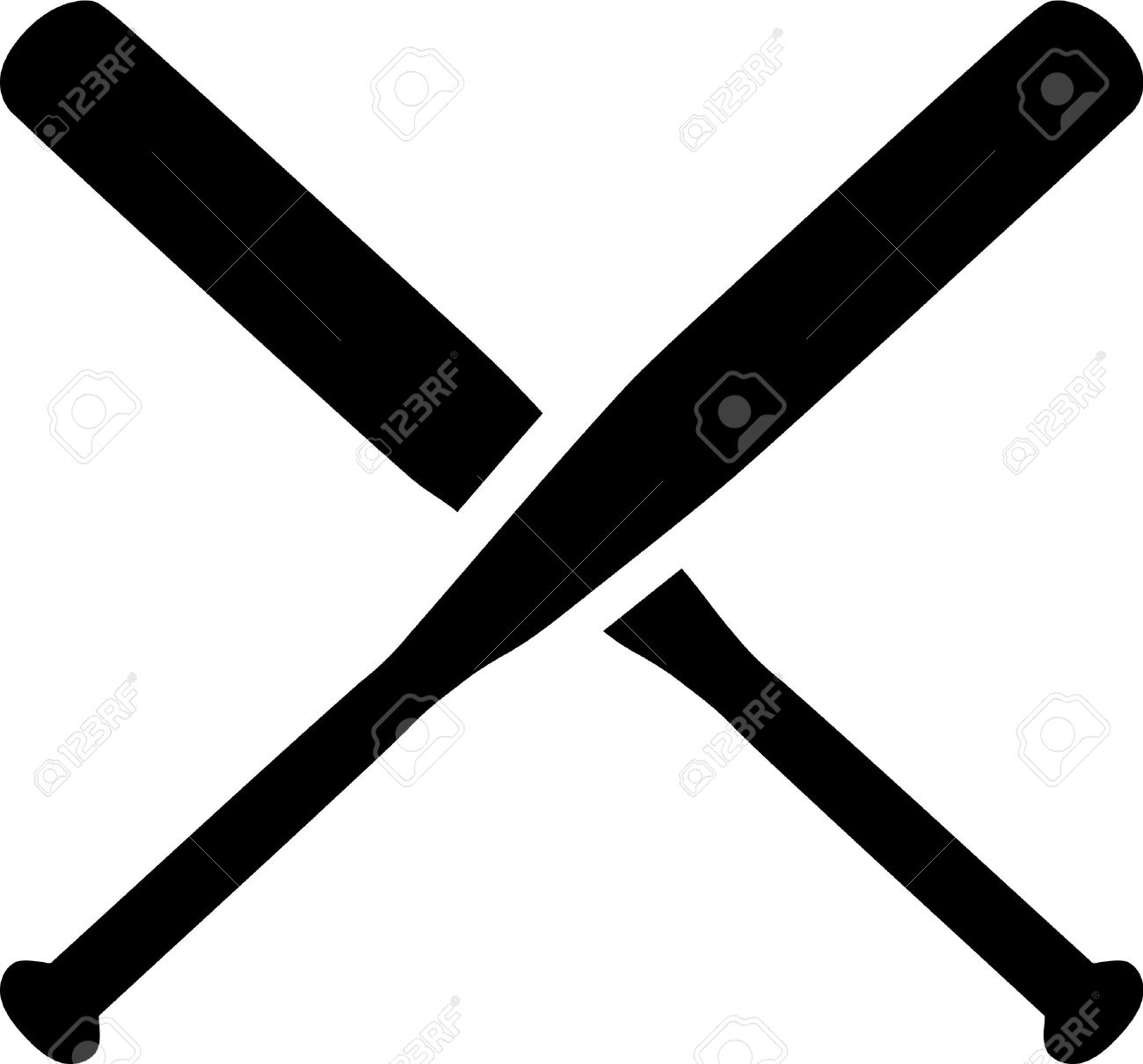baseball crossed bats royalty free cliparts vectors and stock rh 123rf com Vector Fist Bat Knife Bat Clip Art