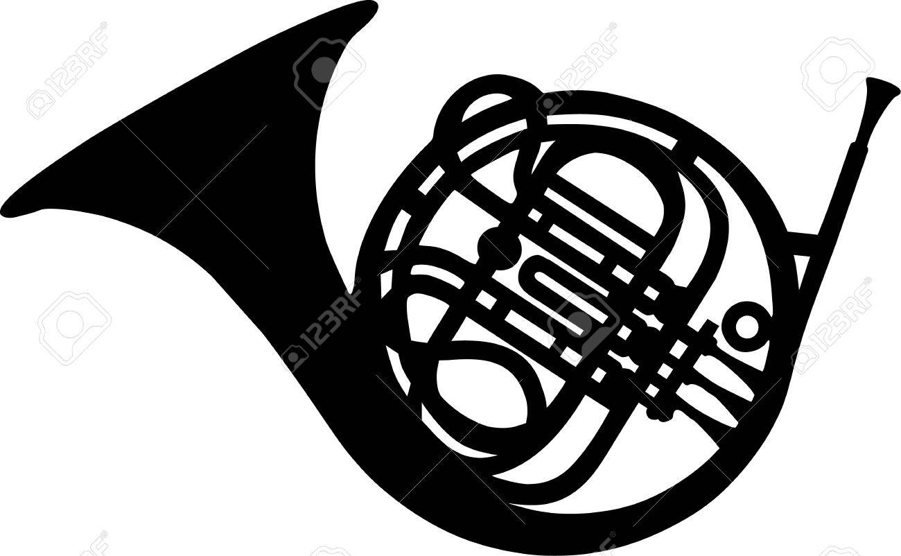 french horn royalty free cliparts vectors and stock illustration rh 123rf com Trombone Clip Art Violin Clip Art