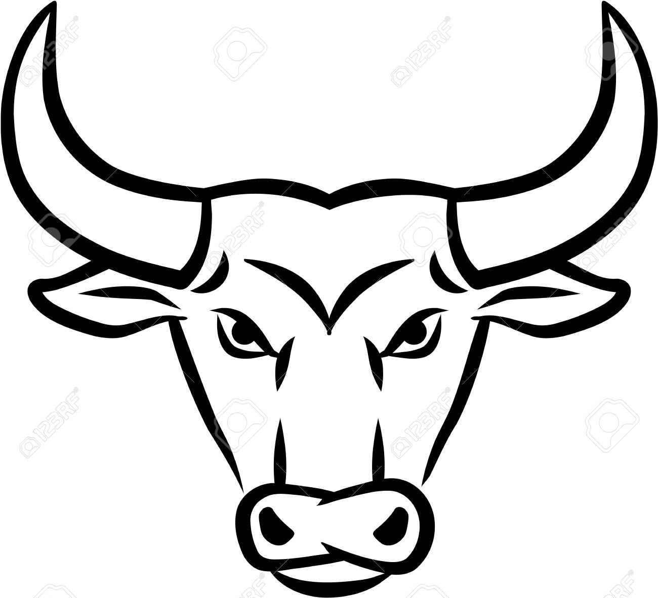 bull clipart outline awesome graphic library