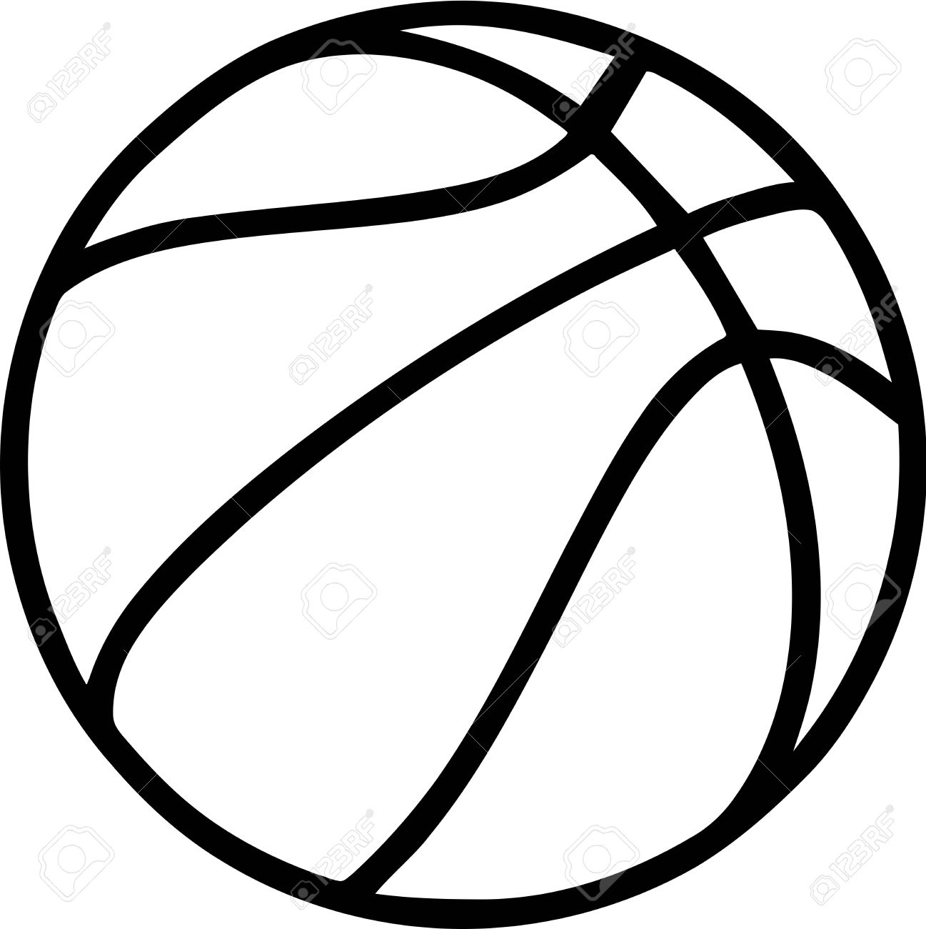 basketball outline on white background royalty free cliparts rh 123rf com basketball vector clipart basketball vector logo
