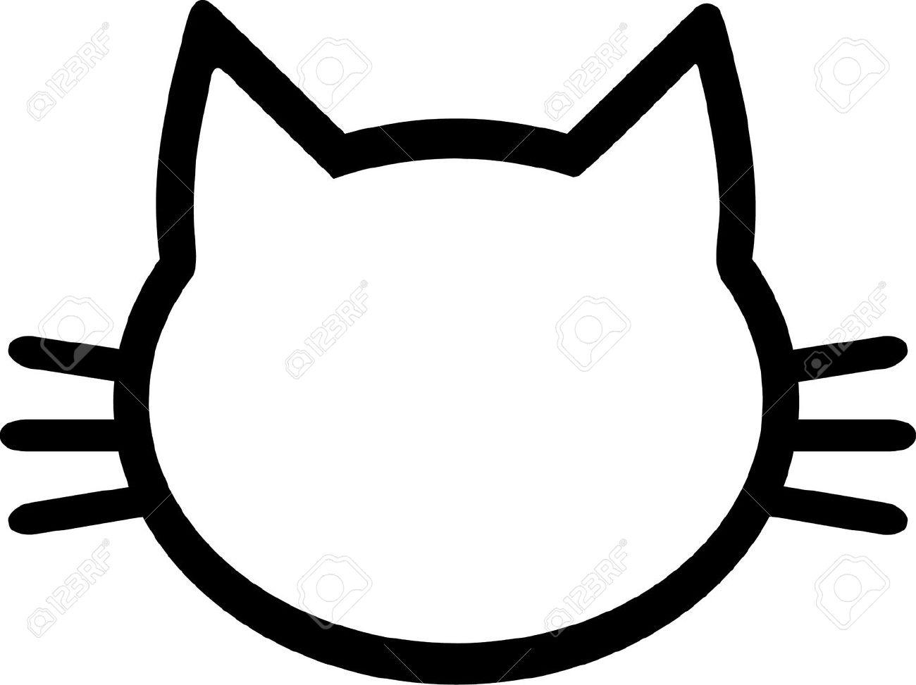 Cat pictogram head Foto de archivo - 40805457