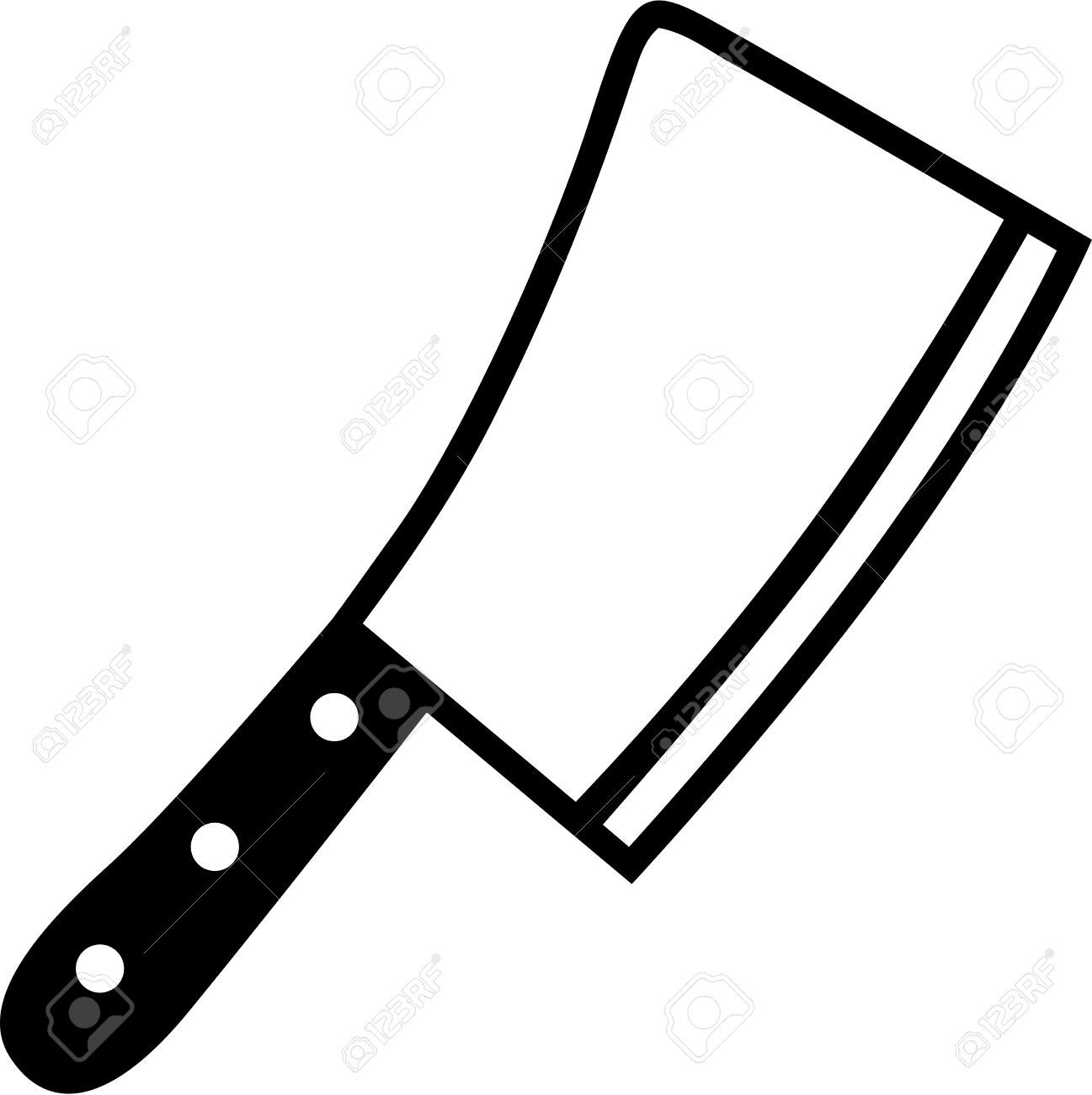 butcher knife cleaver royalty free cliparts vectors and stock rh 123rf com knife clip art black and white knife clipart black and white