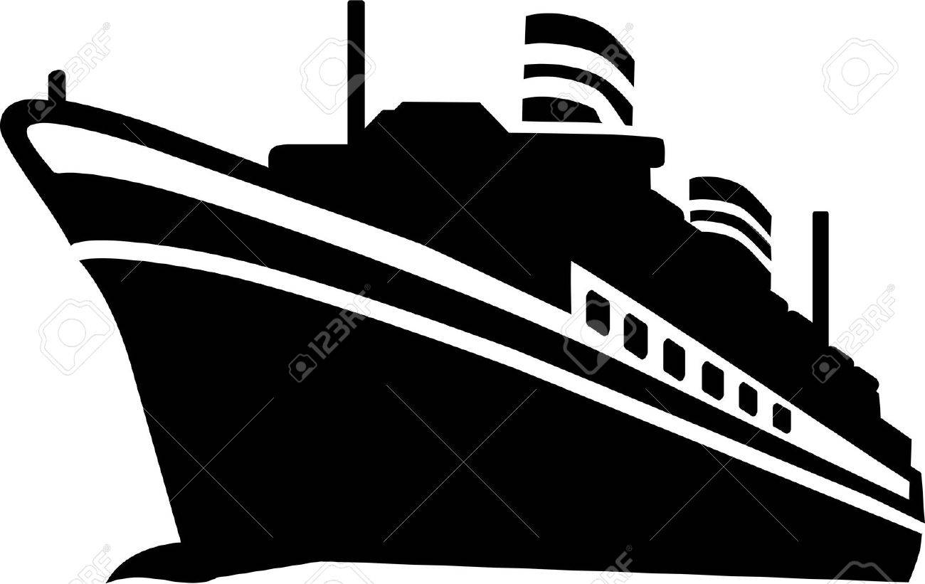 Cruise Ship Stock Vector