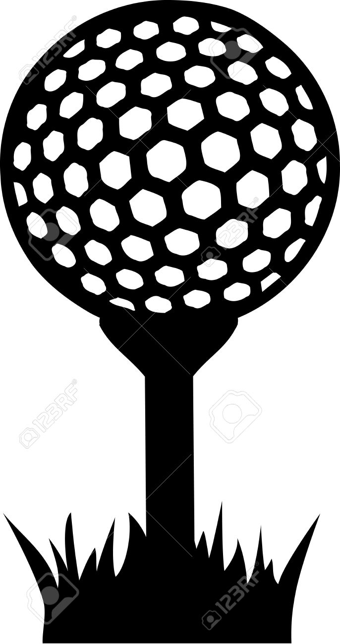 golf ball on tee in grass royalty free cliparts vectors and stock rh 123rf com clipart golf tee black golf tee clip art