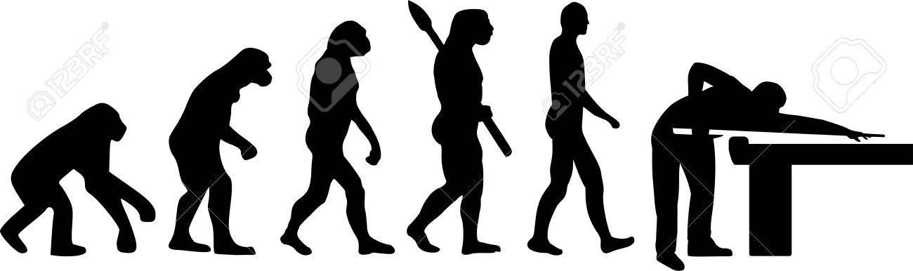 Billard Evolution Banque d'images - 40895918