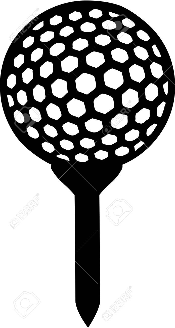 golf ball on tee royalty free cliparts vectors and stock rh 123rf com vector golf ball free vector golf ball tutorial illustrator