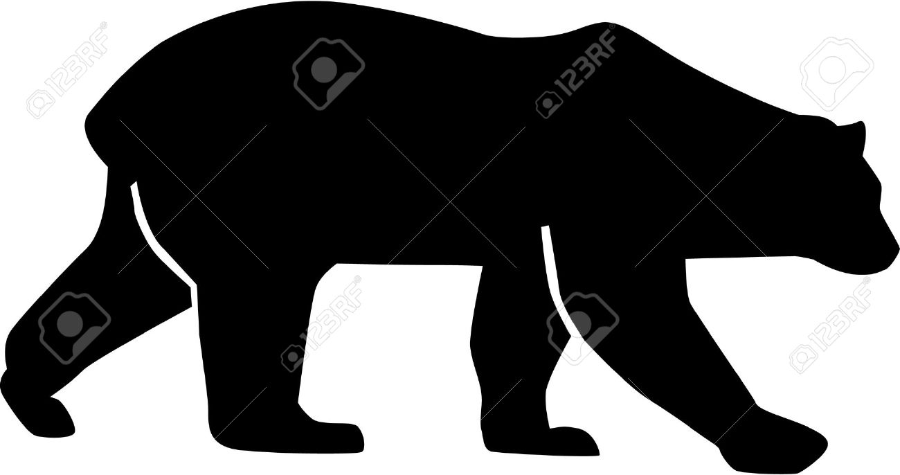 polar bear silhouette royalty free cliparts vectors and stock  - polar bear silhouette stock vector